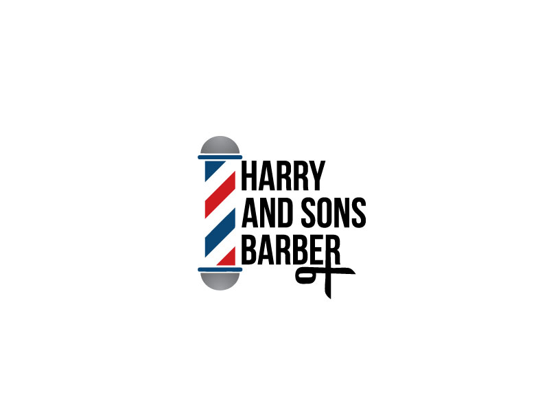 Logo Design by Private User - Entry No. 69 in the Logo Design Contest Captivating Logo Design for Harry and Sons Barber.