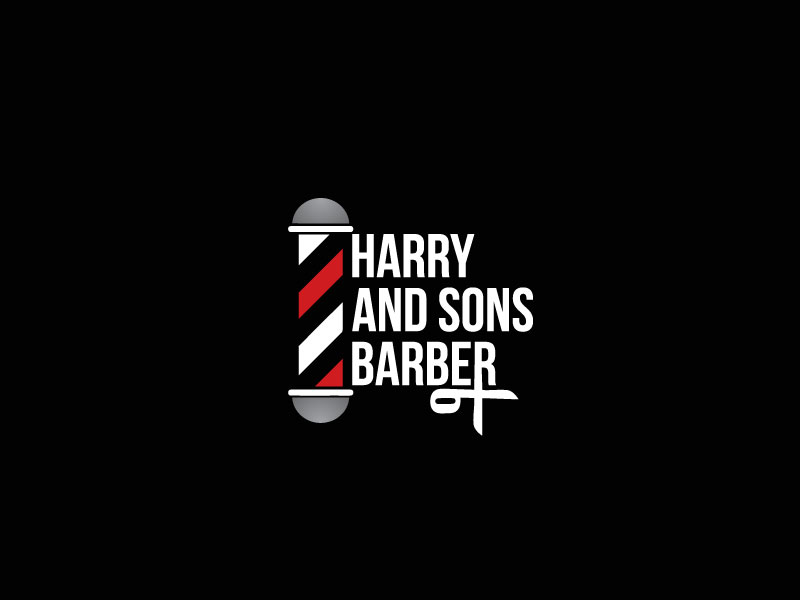 Logo Design by Private User - Entry No. 70 in the Logo Design Contest Captivating Logo Design for Harry and Sons Barber.