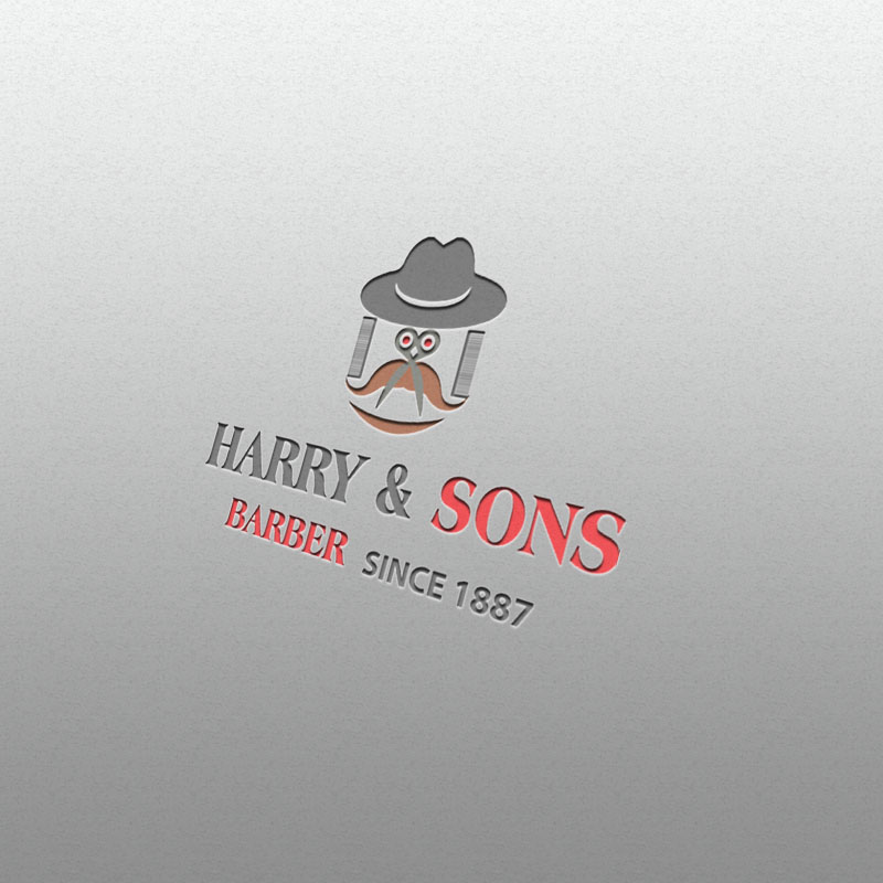 Logo Design by Umair ahmed Iqbal - Entry No. 72 in the Logo Design Contest Captivating Logo Design for Harry and Sons Barber.