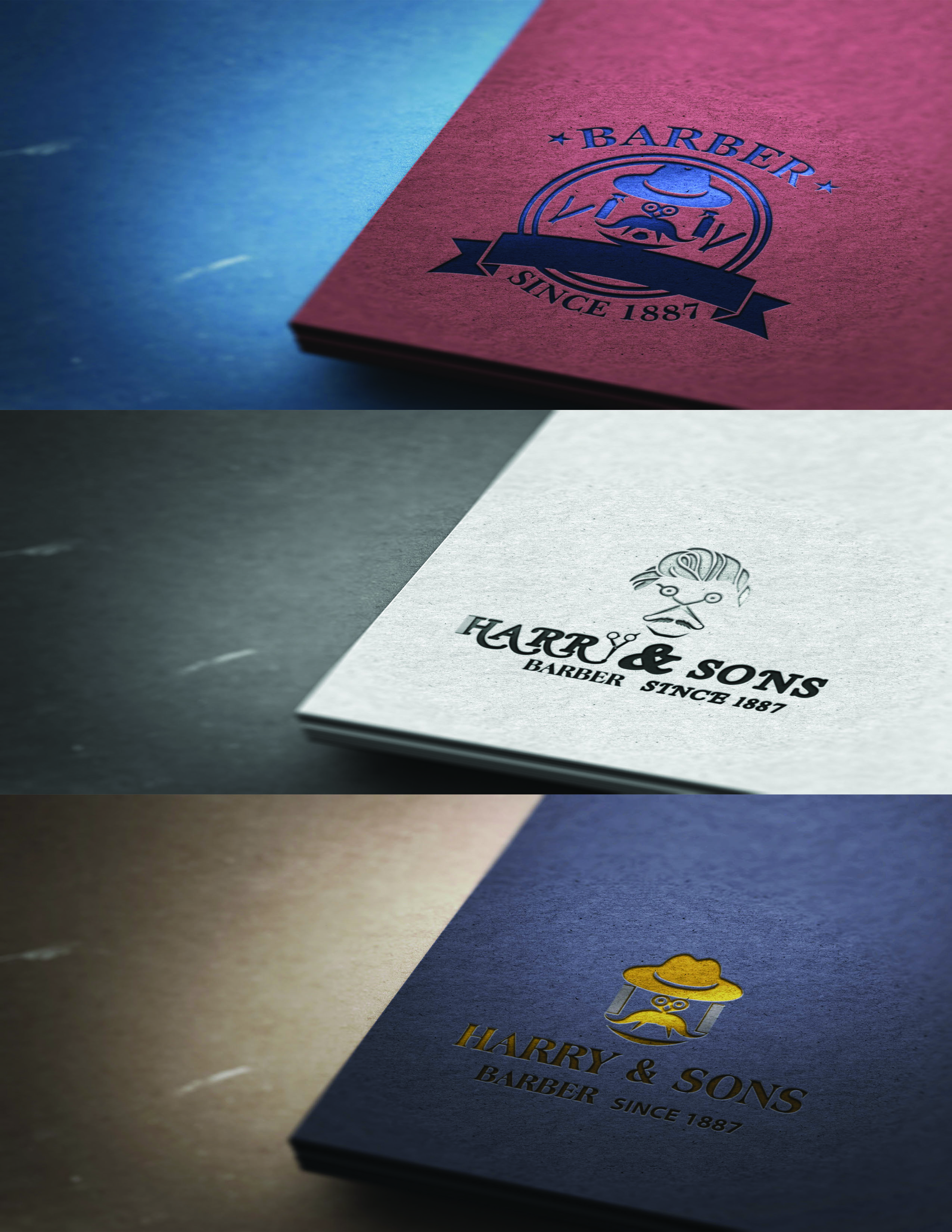 Logo Design by Umair ahmed Iqbal - Entry No. 74 in the Logo Design Contest Captivating Logo Design for Harry and Sons Barber.