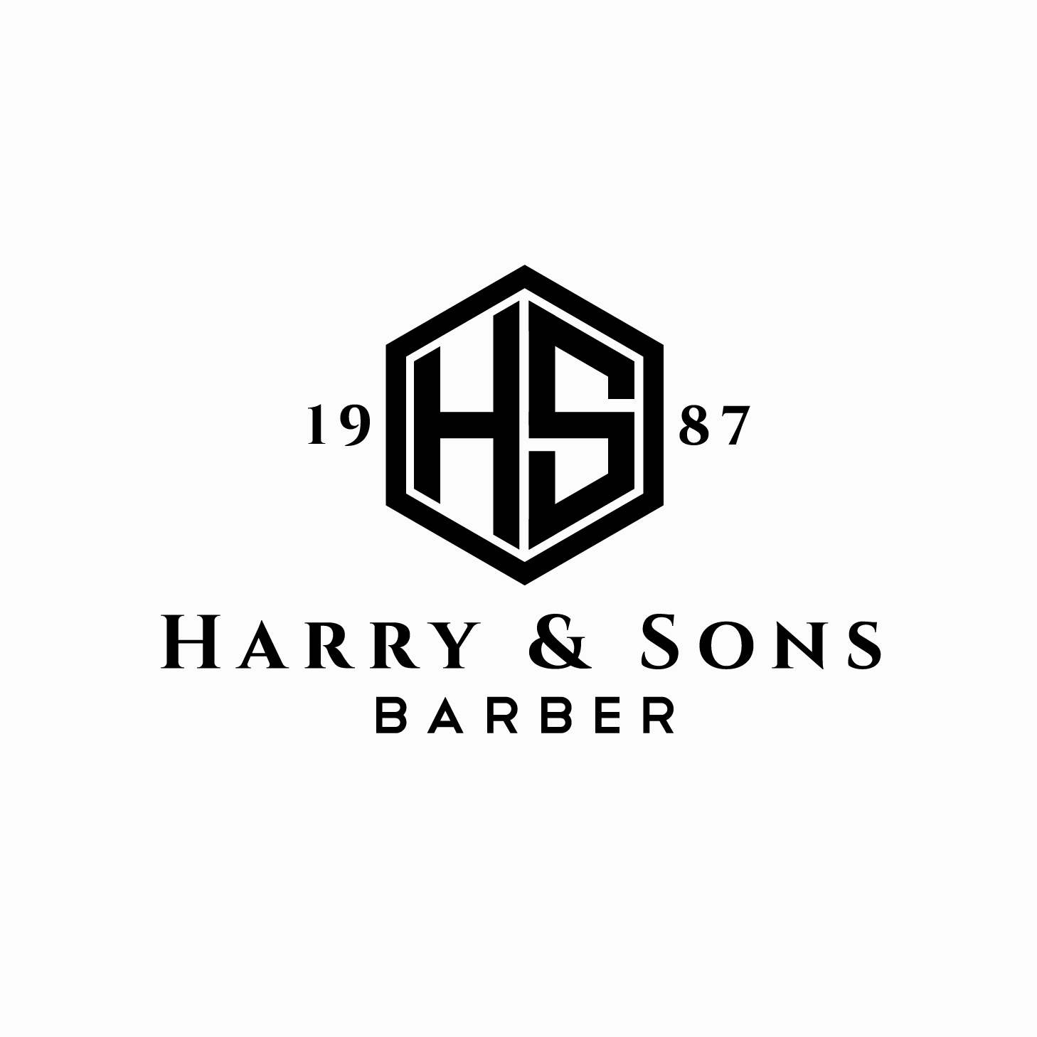 Logo Design by chAnDOS - Entry No. 75 in the Logo Design Contest Captivating Logo Design for Harry and Sons Barber.