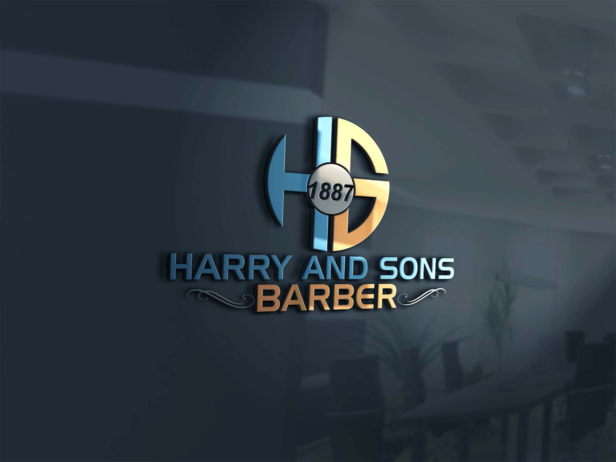 Logo Design by Private User - Entry No. 76 in the Logo Design Contest Captivating Logo Design for Harry and Sons Barber.