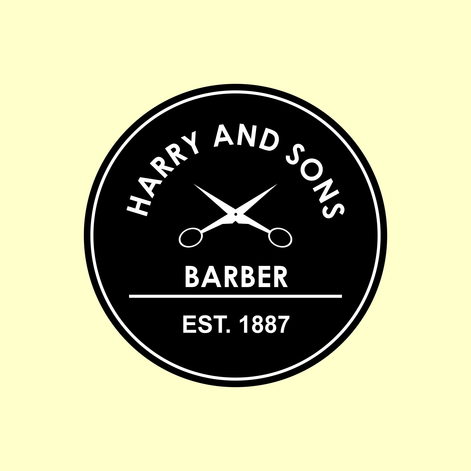 Logo Design by Megha Desai - Entry No. 79 in the Logo Design Contest Captivating Logo Design for Harry and Sons Barber.