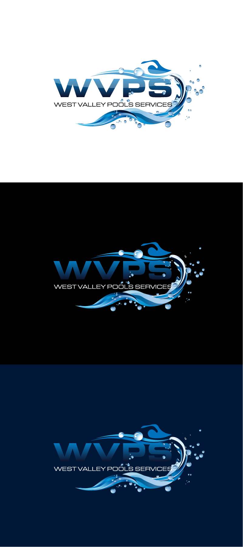 Logo Design by Private User - Entry No. 42 in the Logo Design Contest Clever Logo Design for West Valley Pool Service.