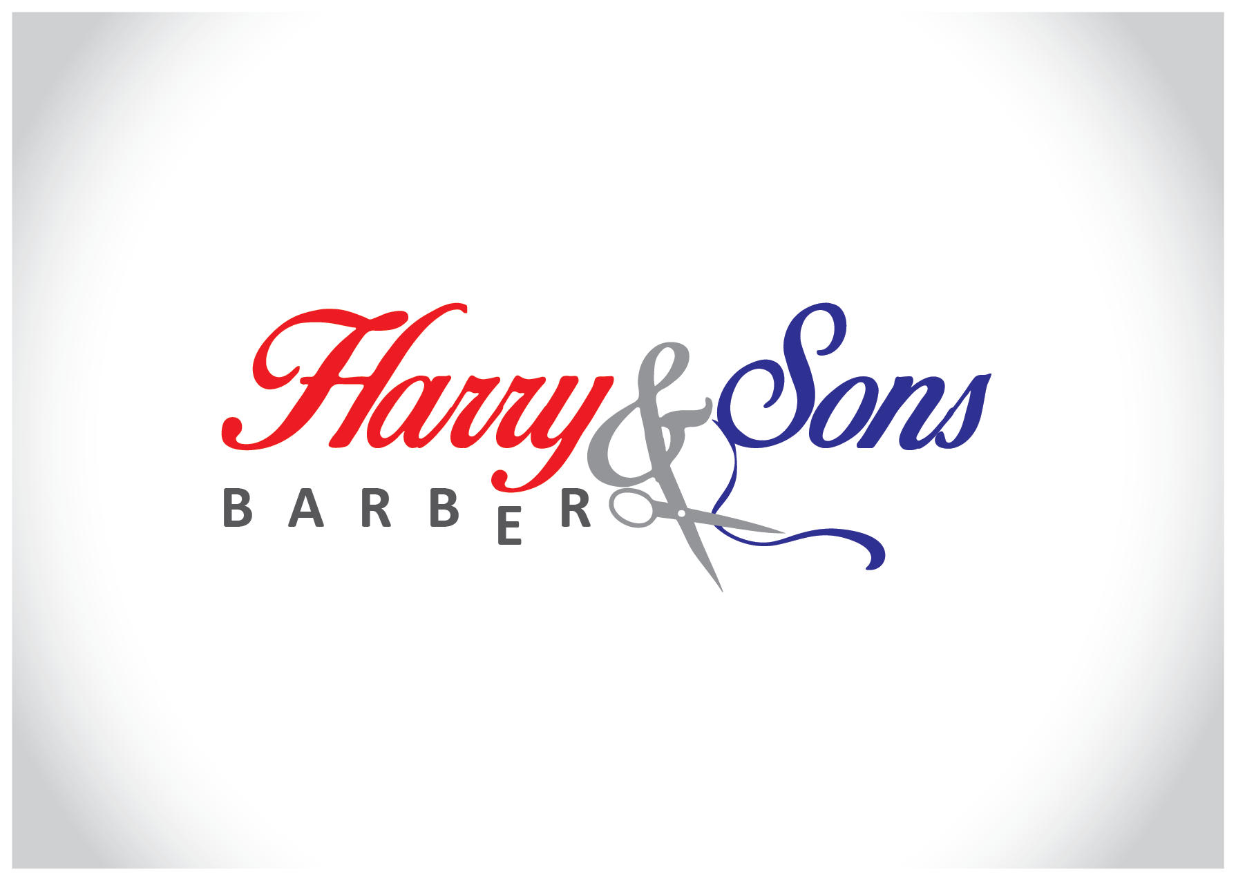 Logo Design by Farrukh Khan - Entry No. 86 in the Logo Design Contest Captivating Logo Design for Harry and Sons Barber.