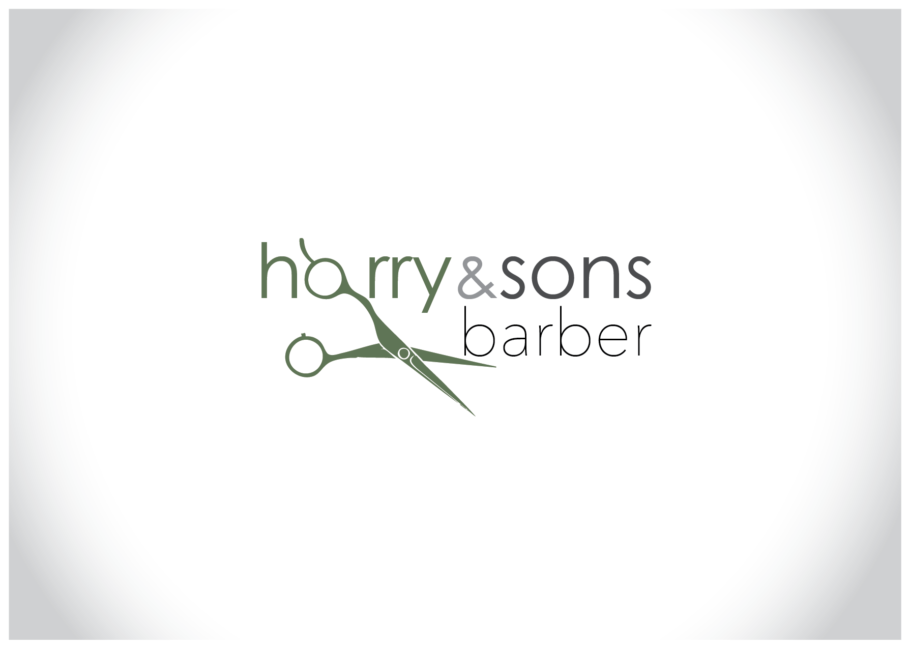 Logo Design by Farrukh Khan - Entry No. 87 in the Logo Design Contest Captivating Logo Design for Harry and Sons Barber.