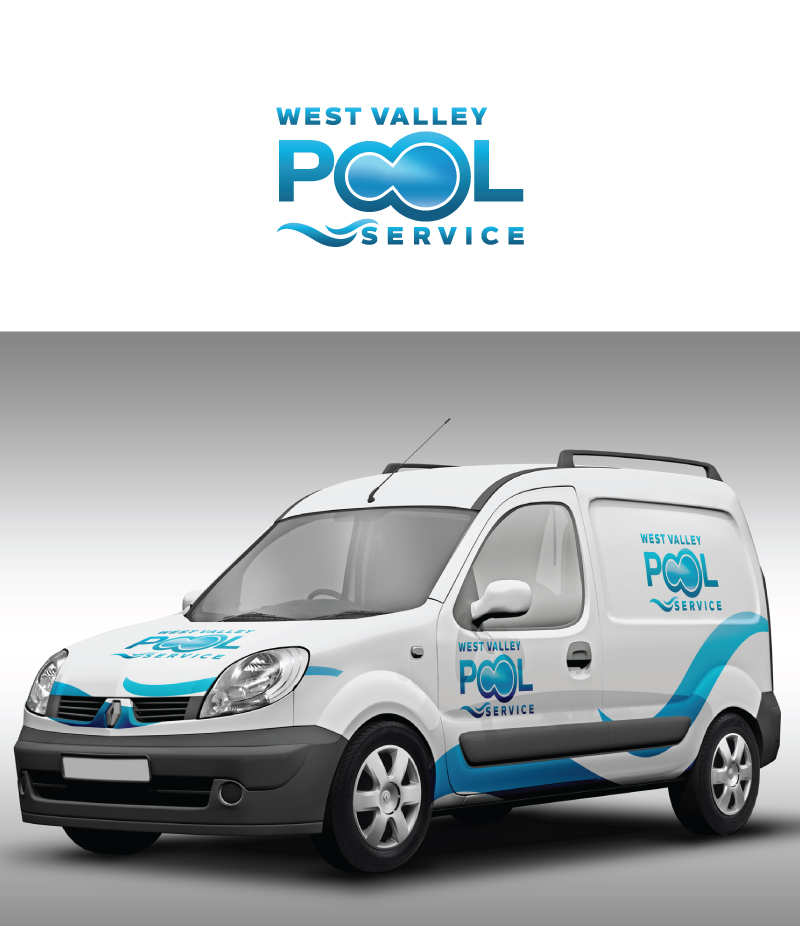 Logo Design by Tauhid Shaikh - Entry No. 44 in the Logo Design Contest Clever Logo Design for West Valley Pool Service.