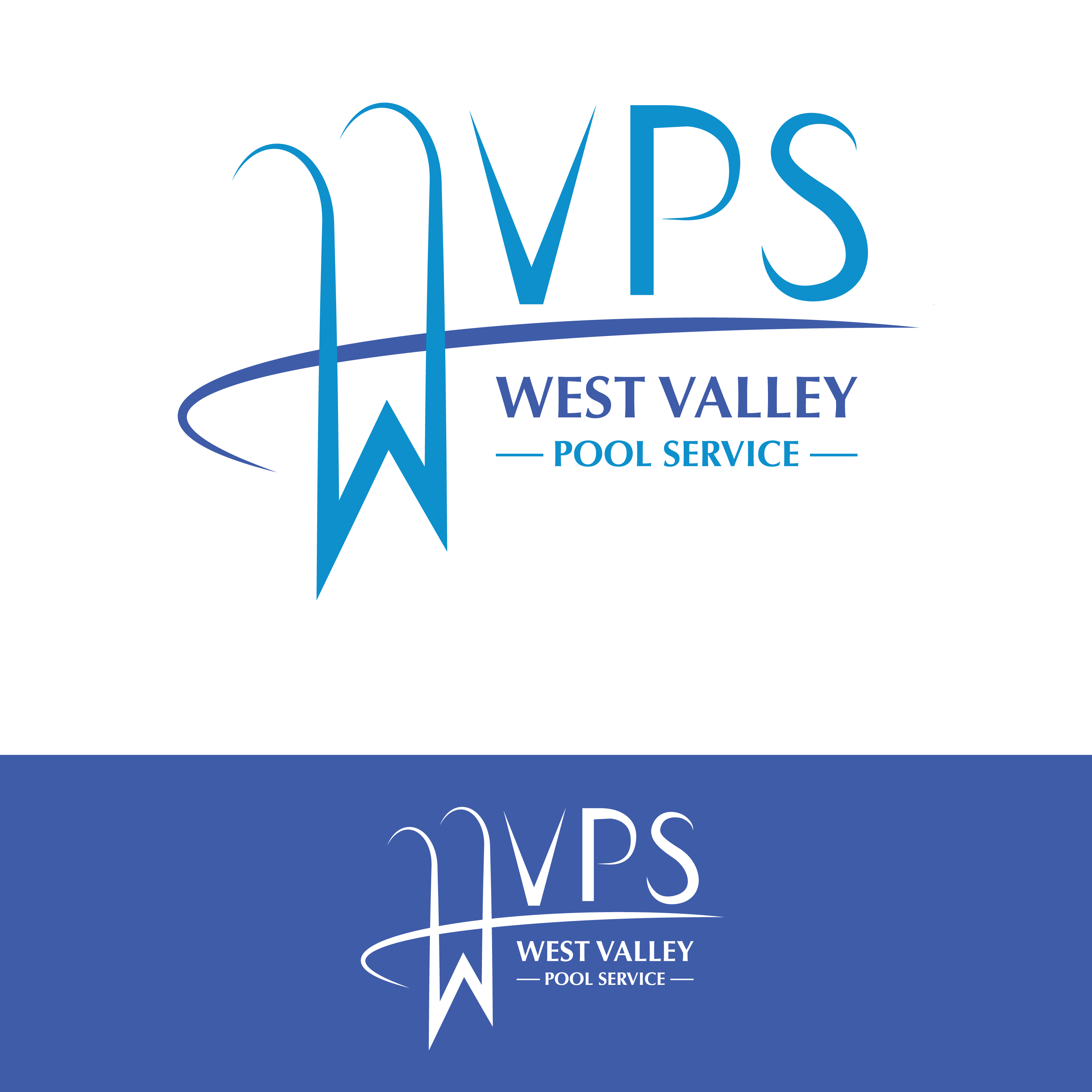 Logo Design by Tiina Kettunen - Entry No. 46 in the Logo Design Contest Clever Logo Design for West Valley Pool Service.