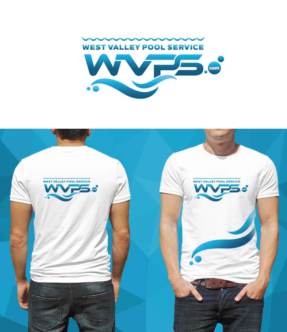 Logo Design by Tauhid Shaikh - Entry No. 47 in the Logo Design Contest Clever Logo Design for West Valley Pool Service.