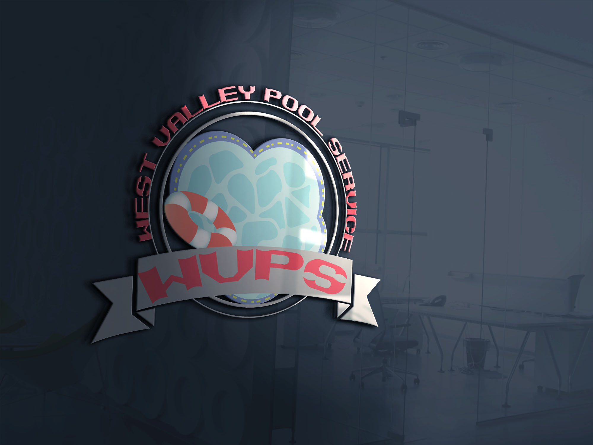 Logo Design by Umair ahmed Iqbal - Entry No. 55 in the Logo Design Contest Clever Logo Design for West Valley Pool Service.