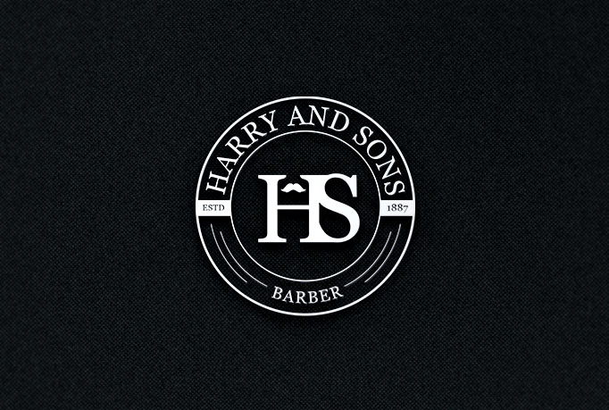 Logo Design by PixArt - Entry No. 94 in the Logo Design Contest Captivating Logo Design for Harry and Sons Barber.