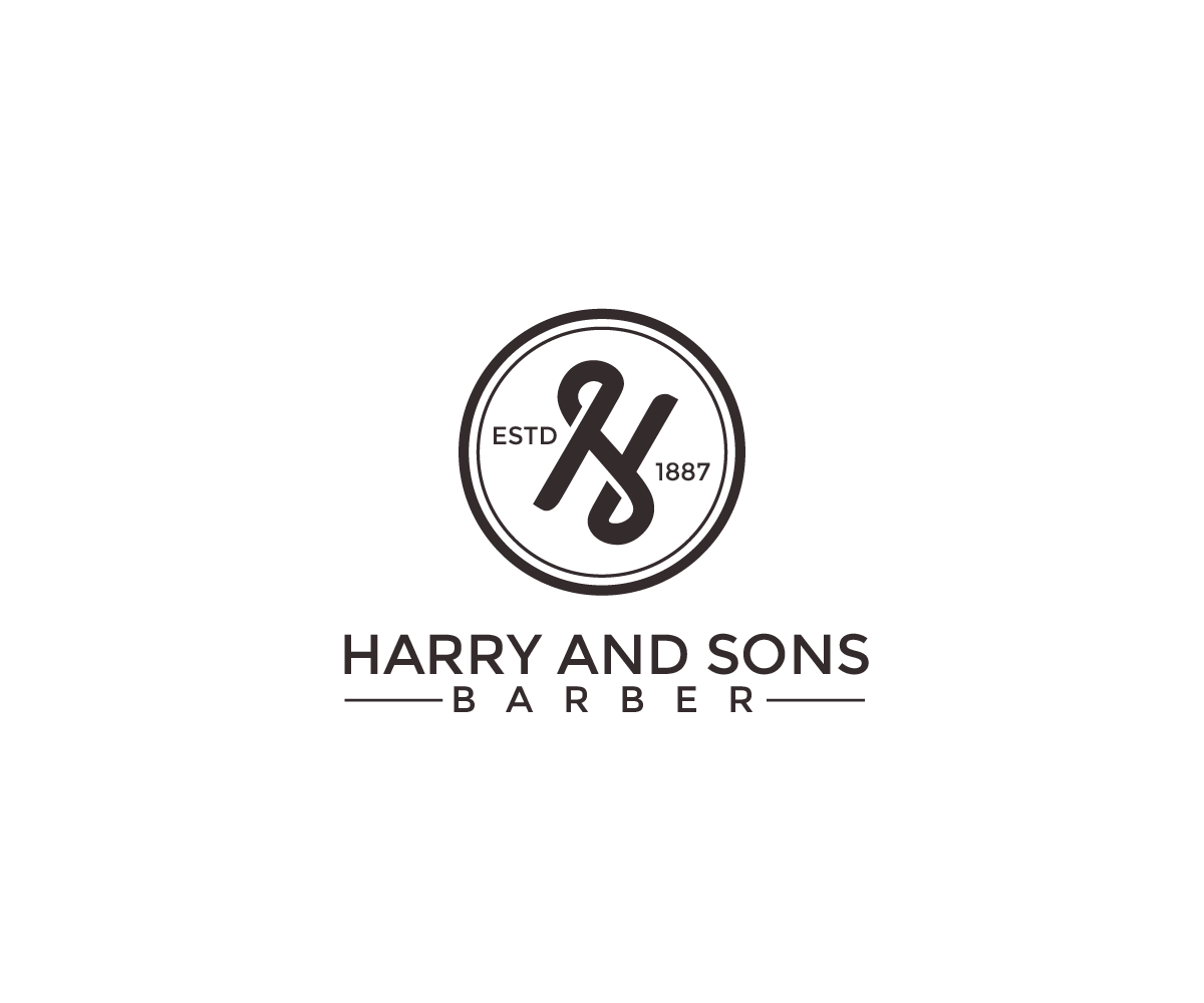 Logo Design by Juan Luna - Entry No. 96 in the Logo Design Contest Captivating Logo Design for Harry and Sons Barber.