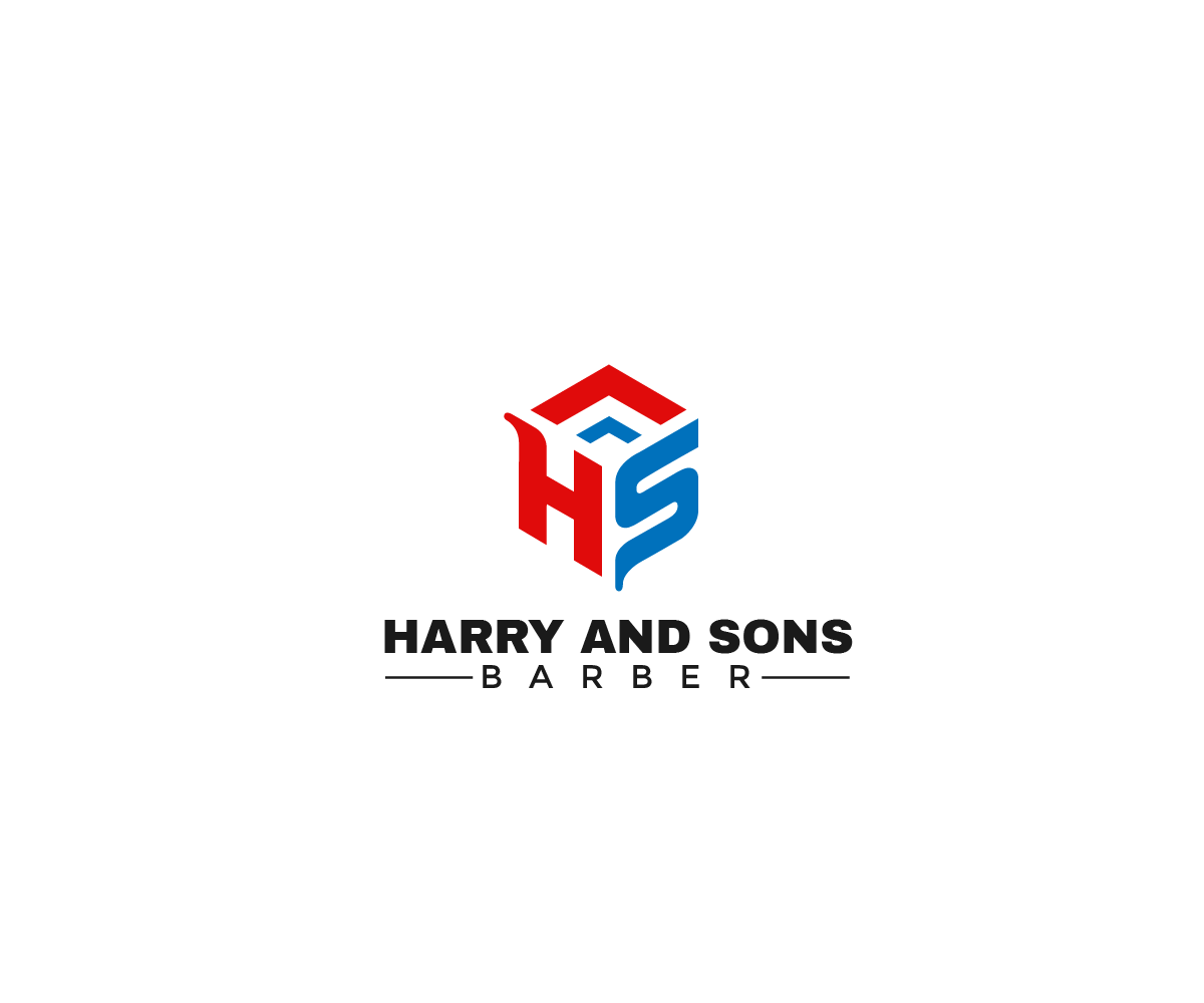 Logo Design by Juan Luna - Entry No. 97 in the Logo Design Contest Captivating Logo Design for Harry and Sons Barber.