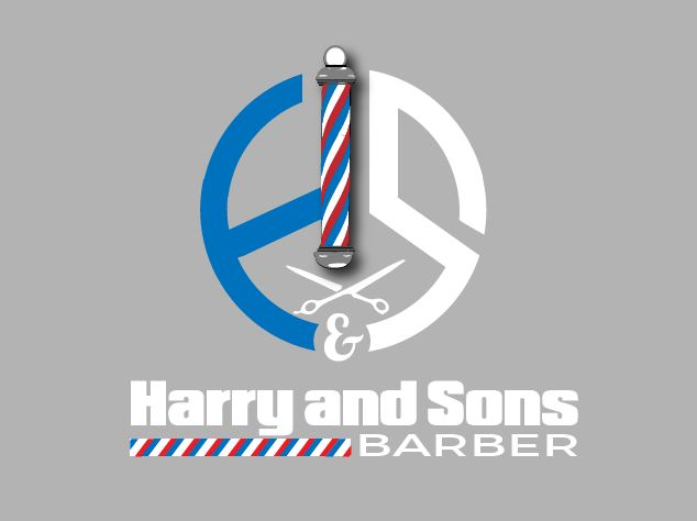 Logo Design by Wilfred Ponseca - Entry No. 98 in the Logo Design Contest Captivating Logo Design for Harry and Sons Barber.