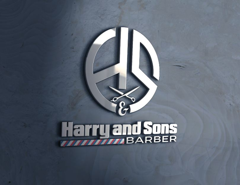 Logo Design by Wilfred Ponseca - Entry No. 99 in the Logo Design Contest Captivating Logo Design for Harry and Sons Barber.
