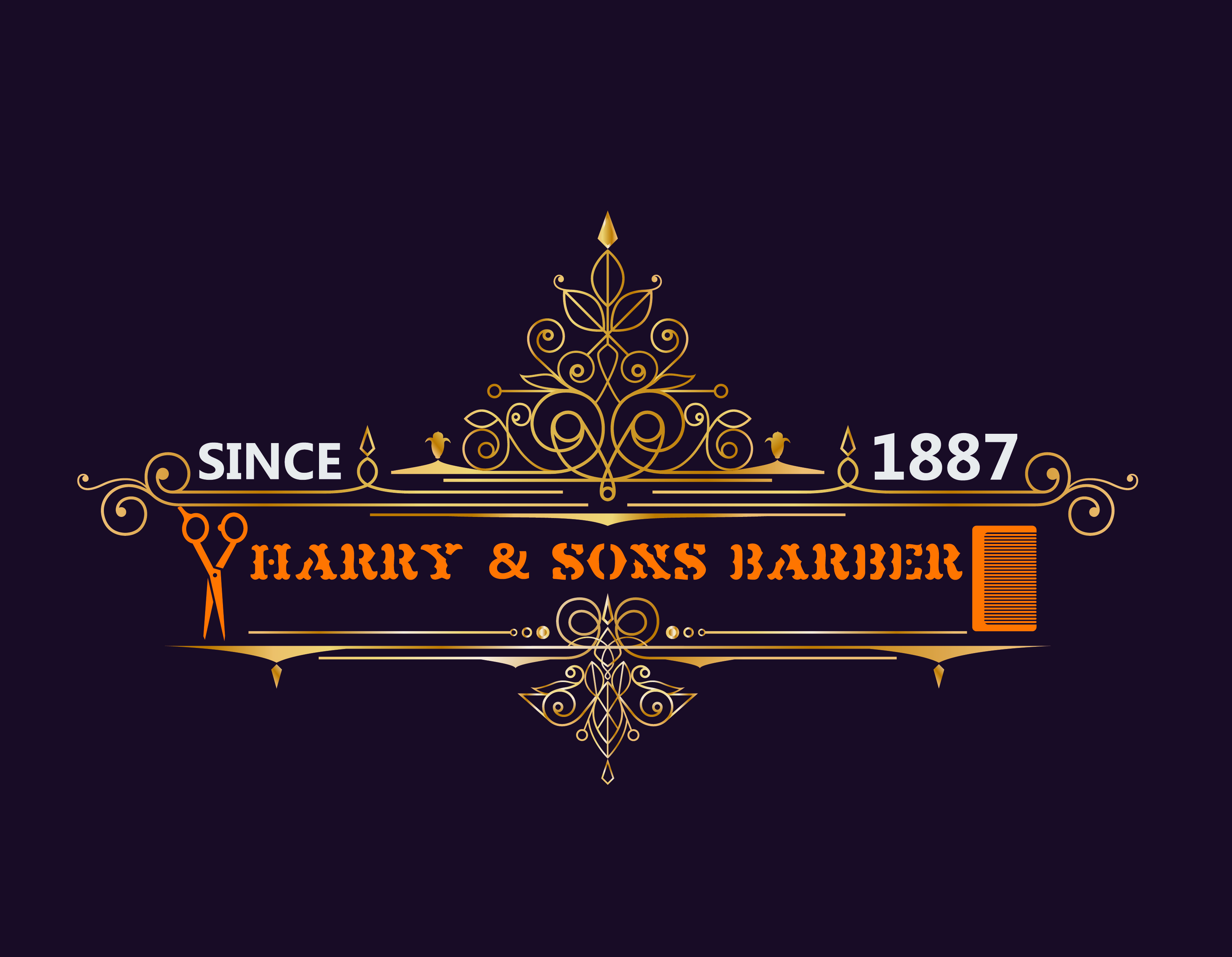 Logo Design by Umair ahmed Iqbal - Entry No. 106 in the Logo Design Contest Captivating Logo Design for Harry and Sons Barber.