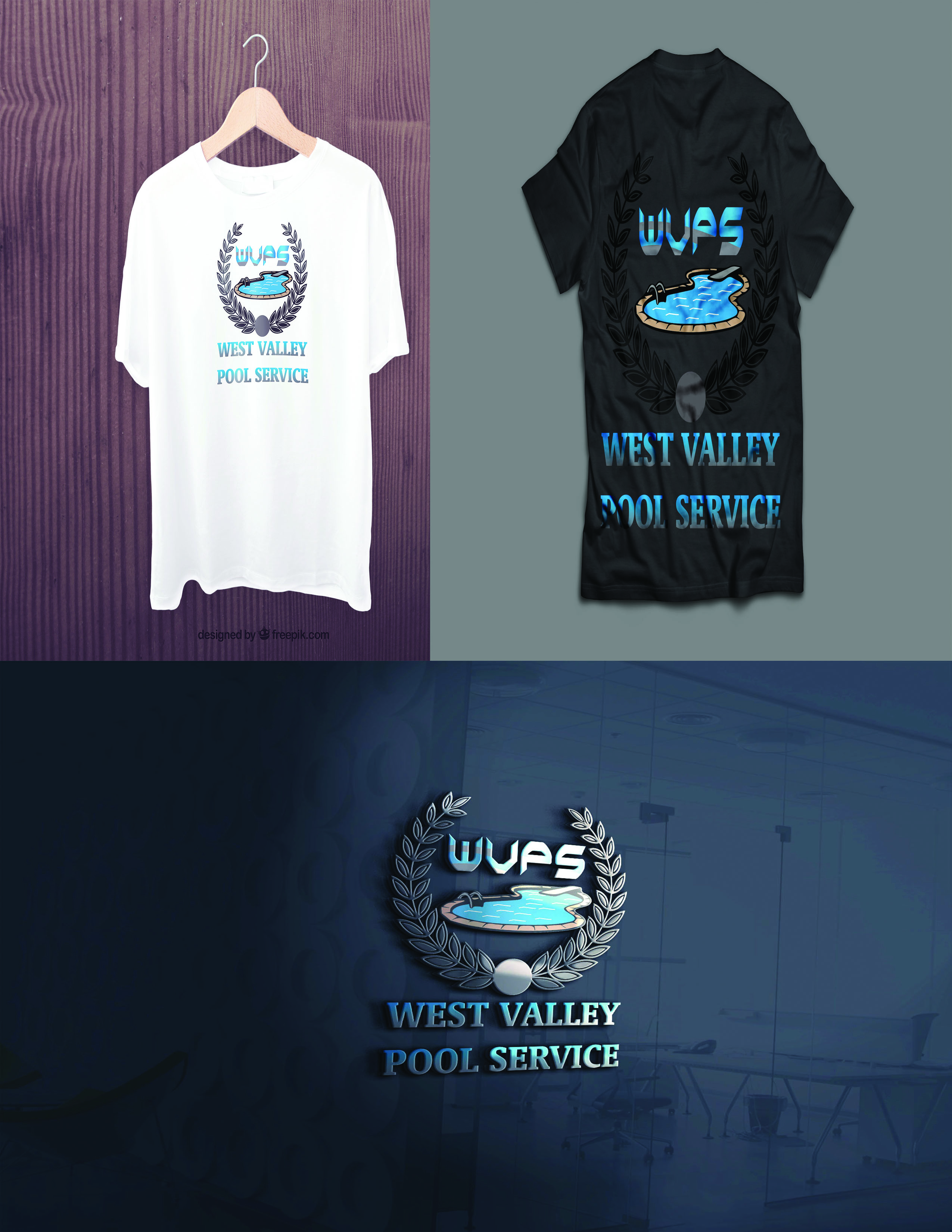 Logo Design by Umair ahmed Iqbal - Entry No. 79 in the Logo Design Contest Clever Logo Design for West Valley Pool Service.