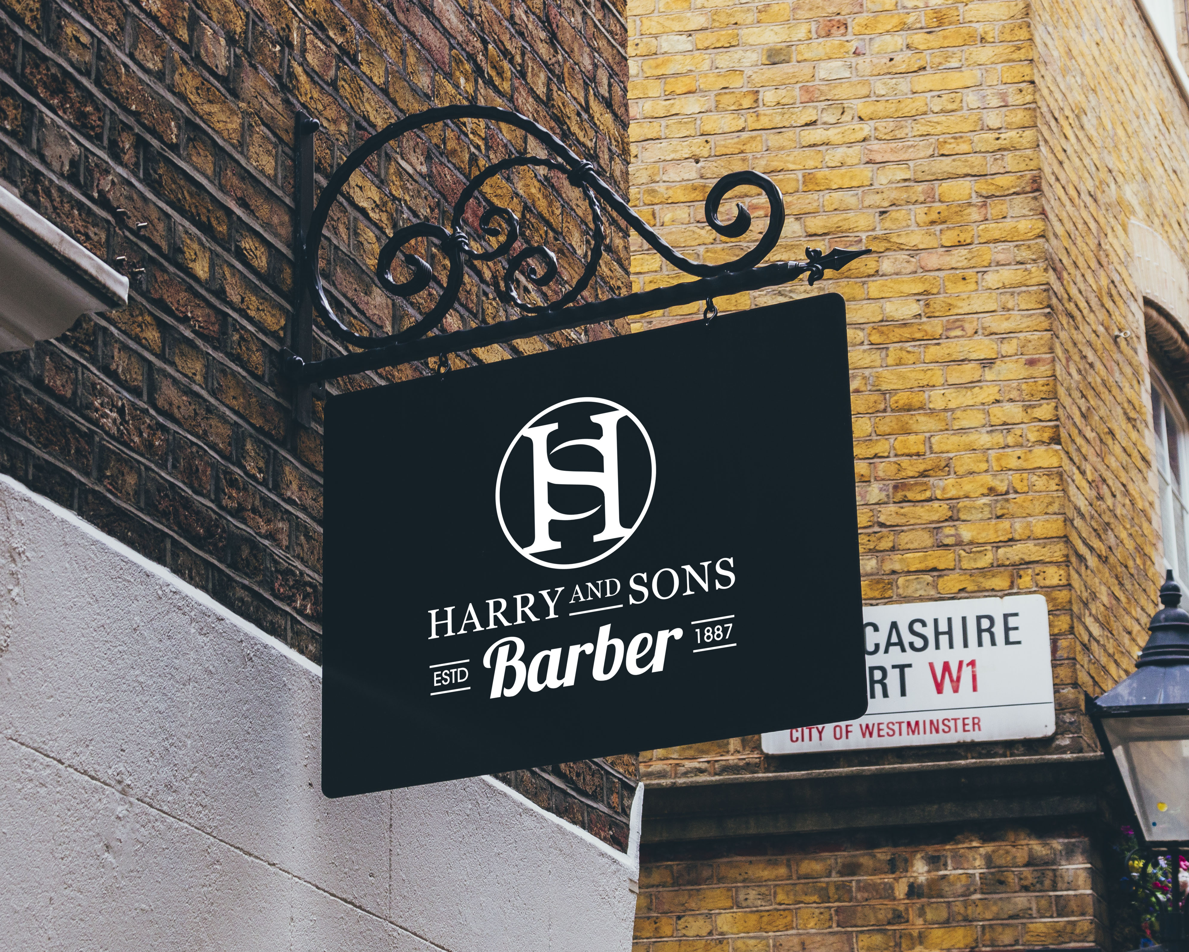 Logo Design by PixArt - Entry No. 107 in the Logo Design Contest Captivating Logo Design for Harry and Sons Barber.