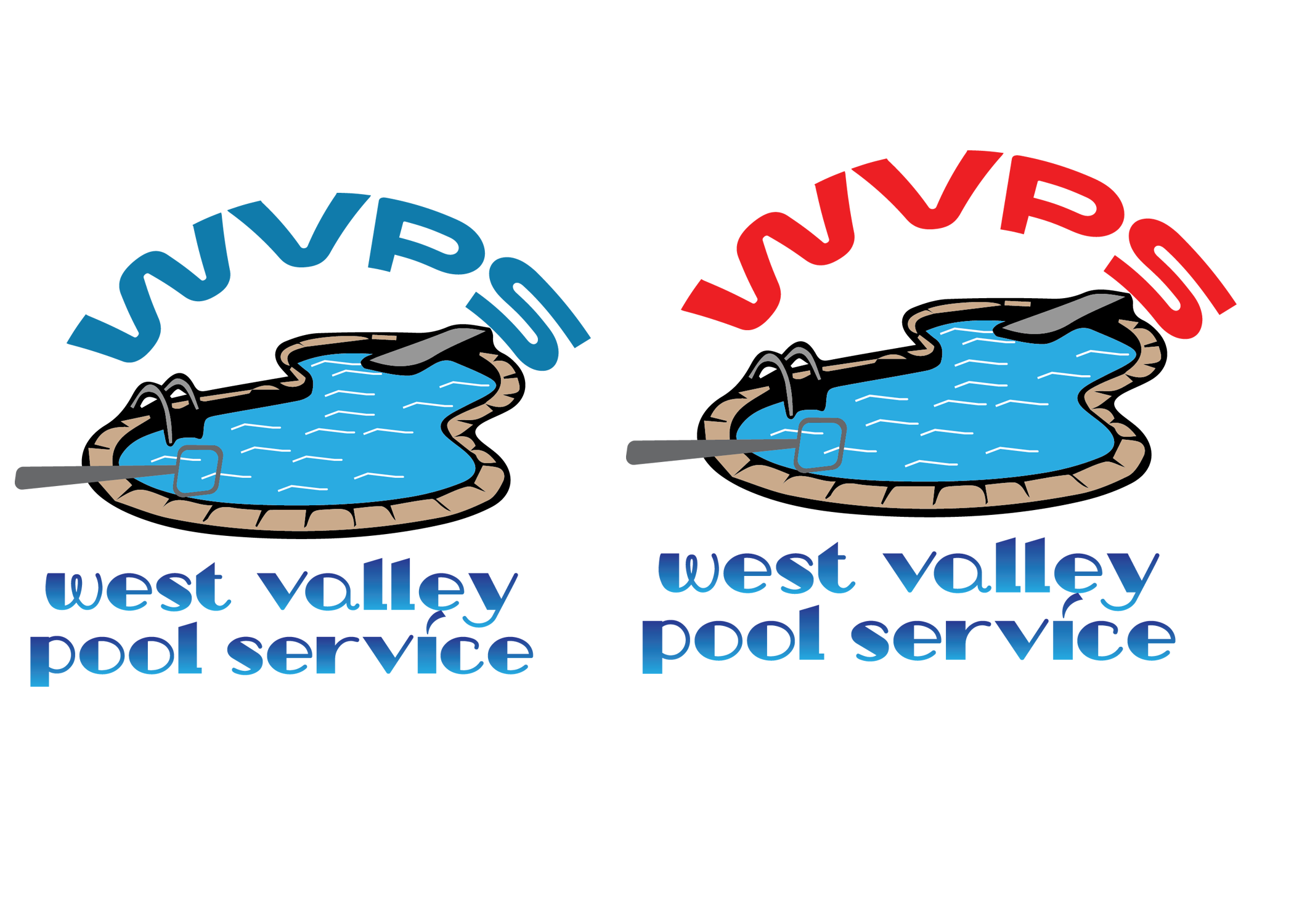 Logo Design by Umair ahmed Iqbal - Entry No. 82 in the Logo Design Contest Clever Logo Design for West Valley Pool Service.
