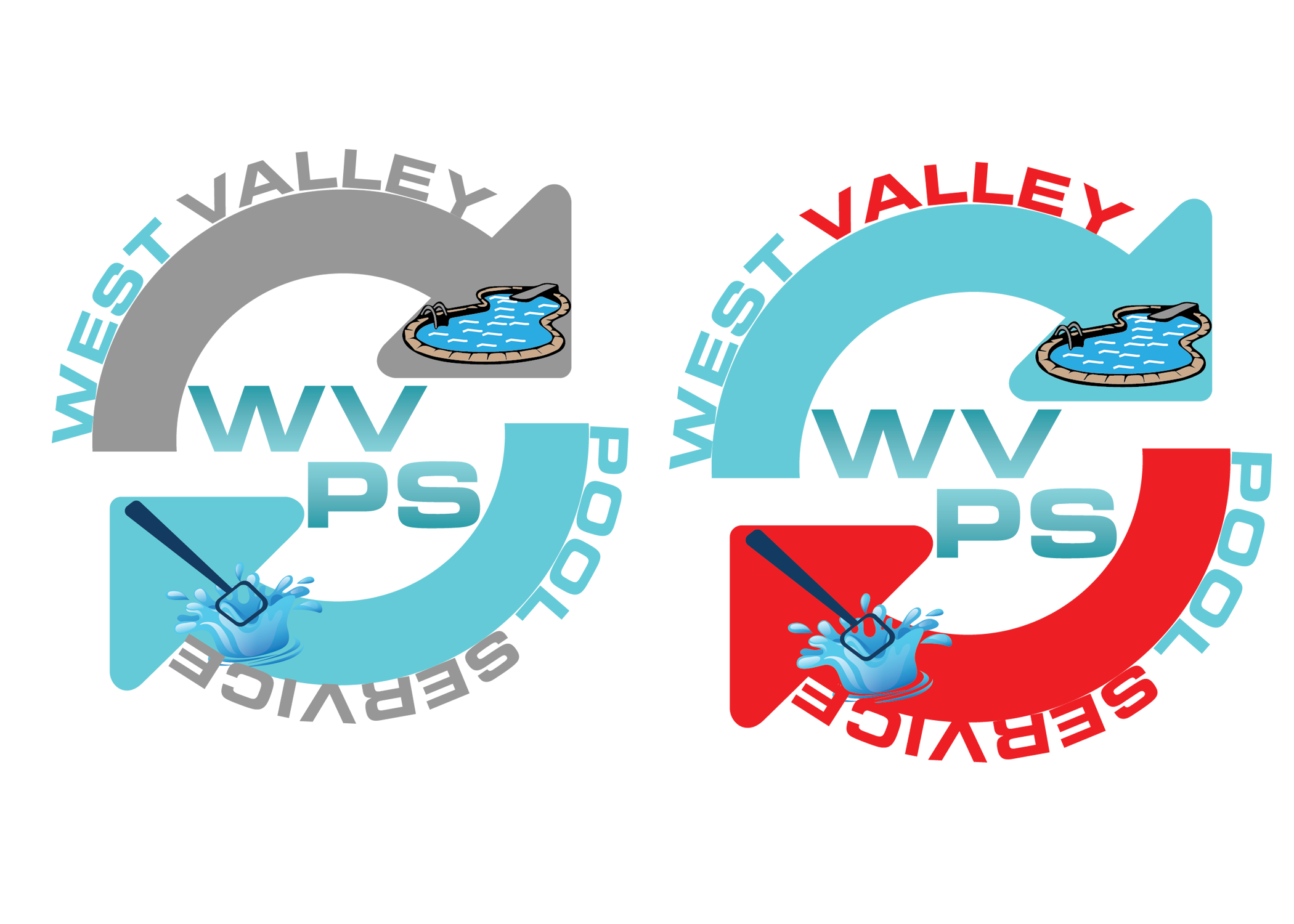 Logo Design by Umair ahmed Iqbal - Entry No. 83 in the Logo Design Contest Clever Logo Design for West Valley Pool Service.