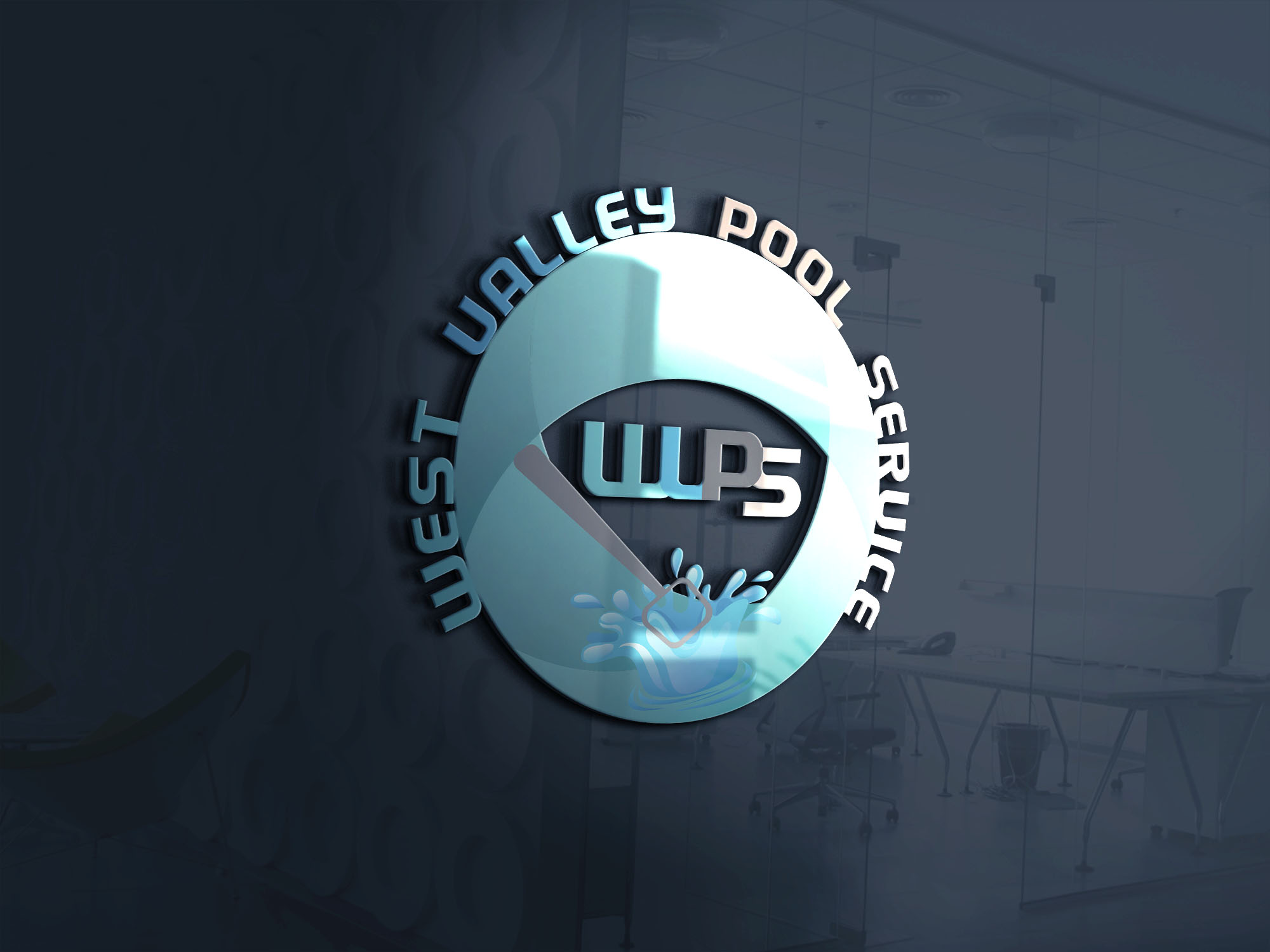 Logo Design by Umair ahmed Iqbal - Entry No. 86 in the Logo Design Contest Clever Logo Design for West Valley Pool Service.