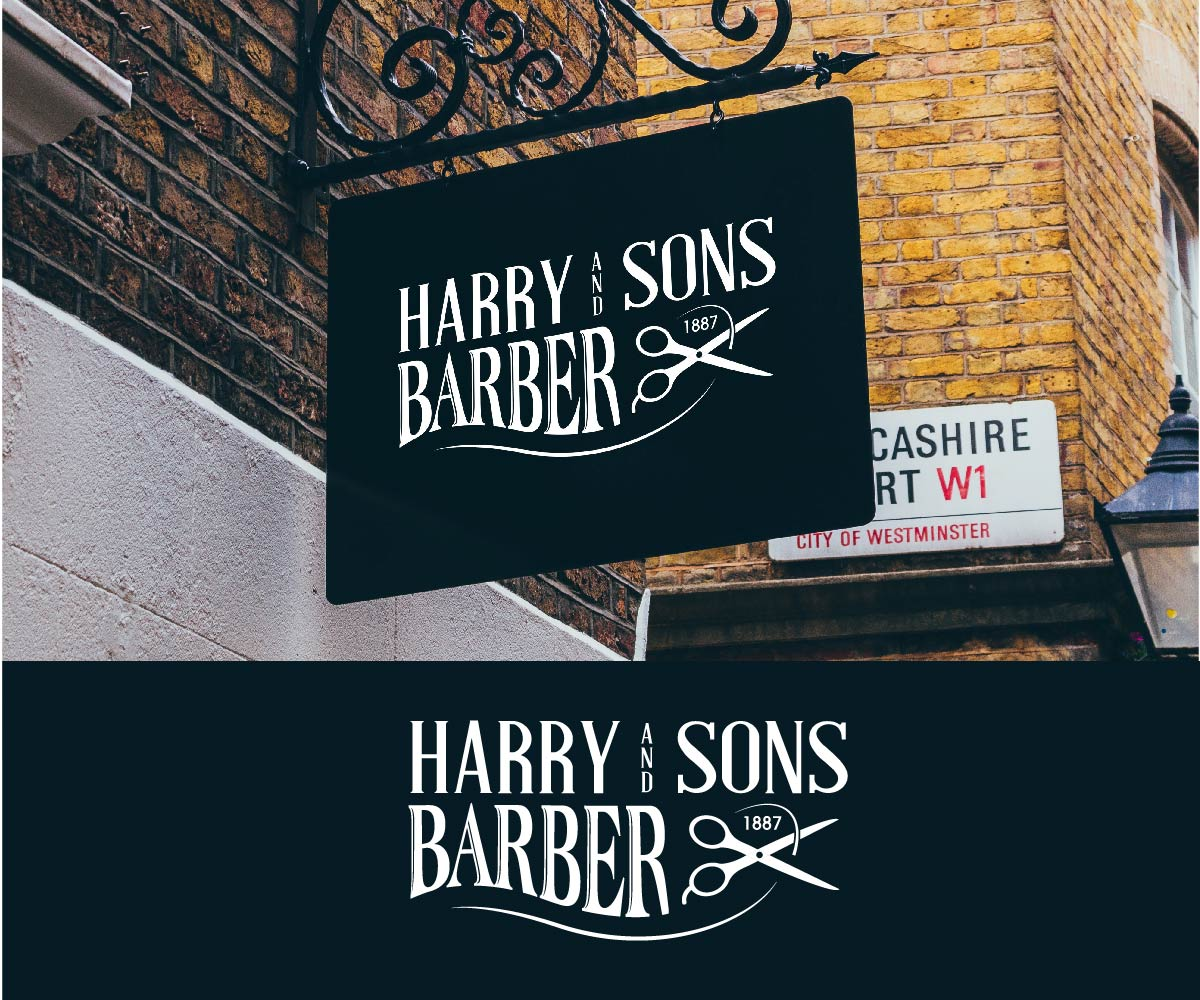 Logo Design by PixArt - Entry No. 109 in the Logo Design Contest Captivating Logo Design for Harry and Sons Barber.