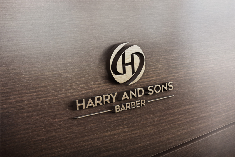 Logo Design by ARABICA Ibrahim - Entry No. 114 in the Logo Design Contest Captivating Logo Design for Harry and Sons Barber.