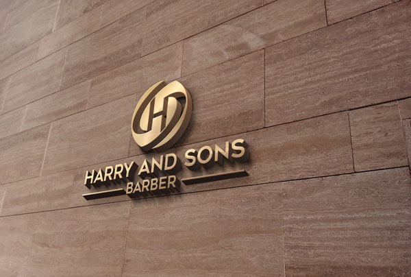 Logo Design by ARABICA Ibrahim - Entry No. 115 in the Logo Design Contest Captivating Logo Design for Harry and Sons Barber.