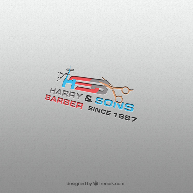 Logo Design by Umair ahmed Iqbal - Entry No. 122 in the Logo Design Contest Captivating Logo Design for Harry and Sons Barber.