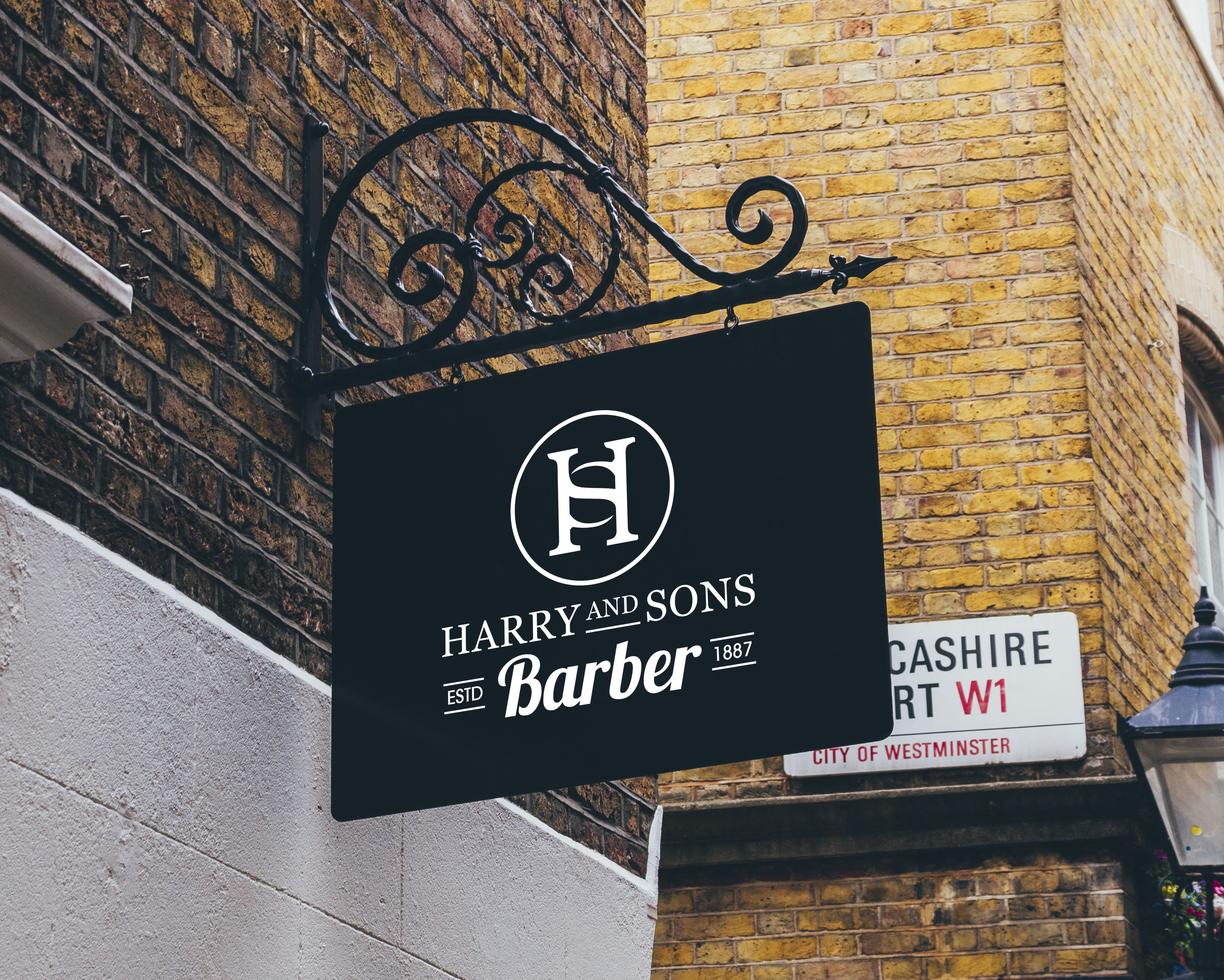Logo Design by PixArt - Entry No. 123 in the Logo Design Contest Captivating Logo Design for Harry and Sons Barber.