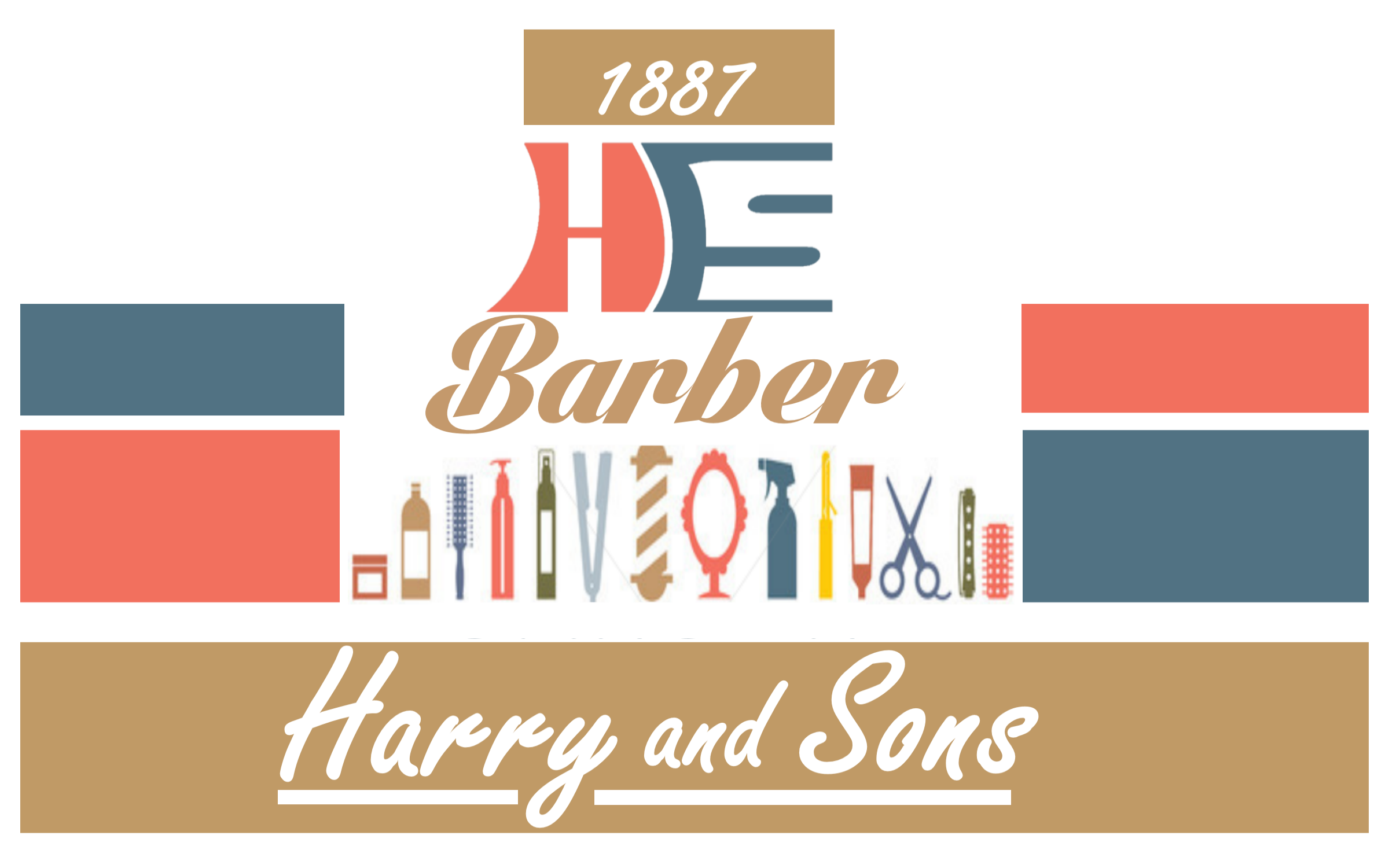 Logo Design by Roberto Bassi - Entry No. 124 in the Logo Design Contest Captivating Logo Design for Harry and Sons Barber.