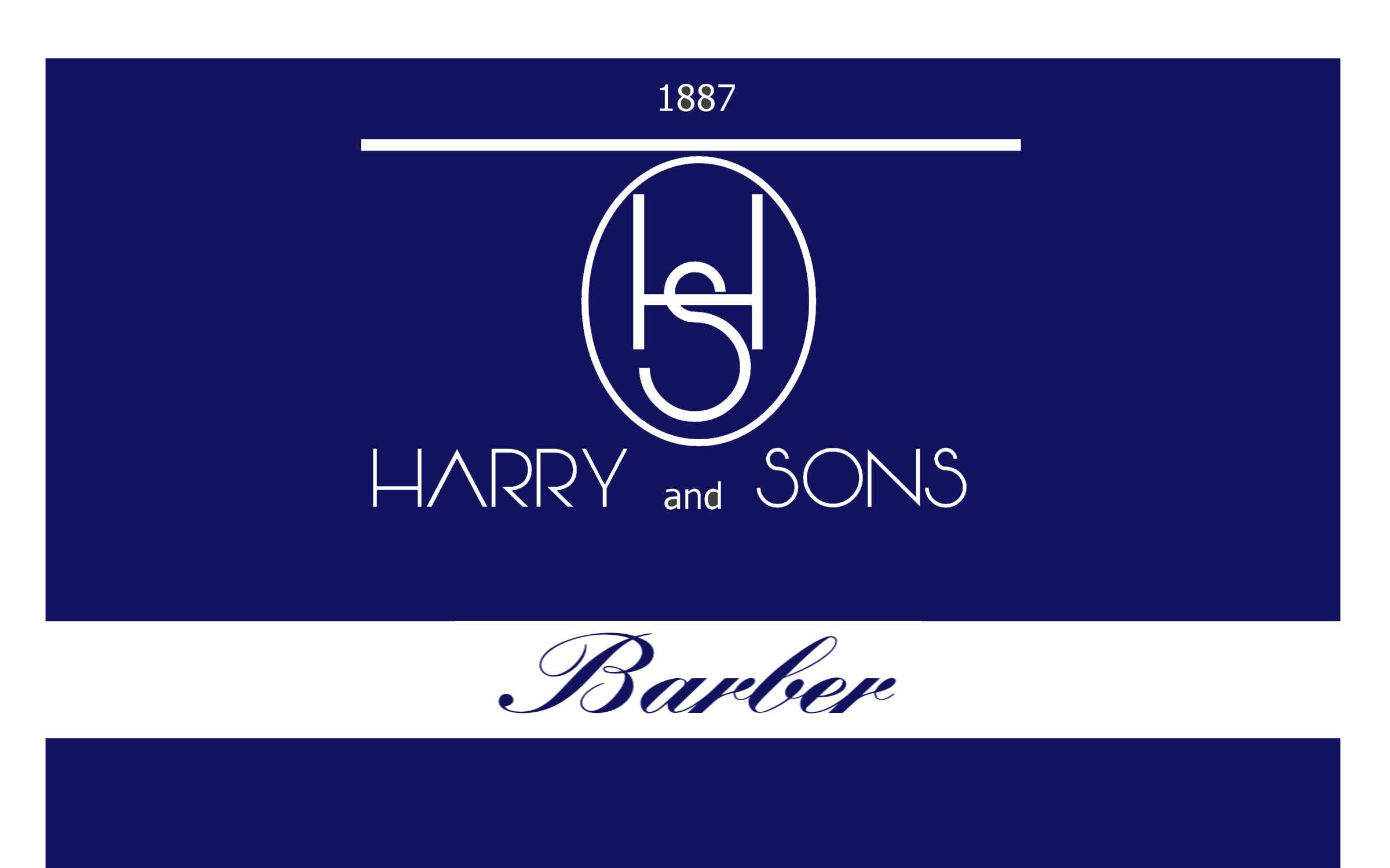 Logo Design by Roberto Bassi - Entry No. 130 in the Logo Design Contest Captivating Logo Design for Harry and Sons Barber.