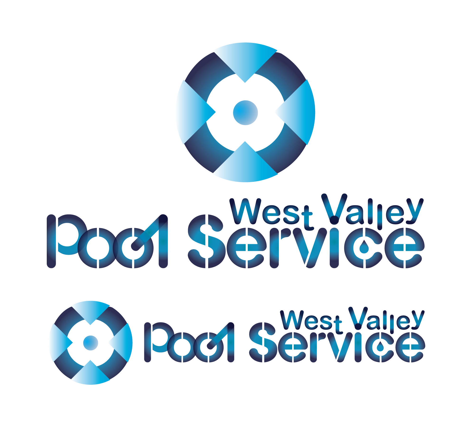 Logo Design by Manufaktura - Entry No. 88 in the Logo Design Contest Clever Logo Design for West Valley Pool Service.