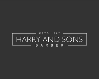 Logo Design by Rasya Malik - Entry No. 134 in the Logo Design Contest Captivating Logo Design for Harry and Sons Barber.