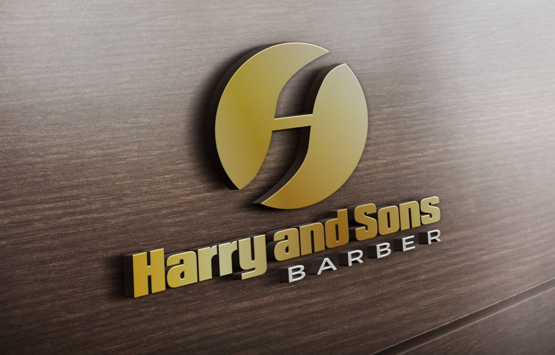 Logo Design by Wilfred Ponseca - Entry No. 136 in the Logo Design Contest Captivating Logo Design for Harry and Sons Barber.