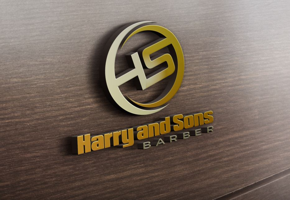 Logo Design by Wilfred Ponseca - Entry No. 138 in the Logo Design Contest Captivating Logo Design for Harry and Sons Barber.