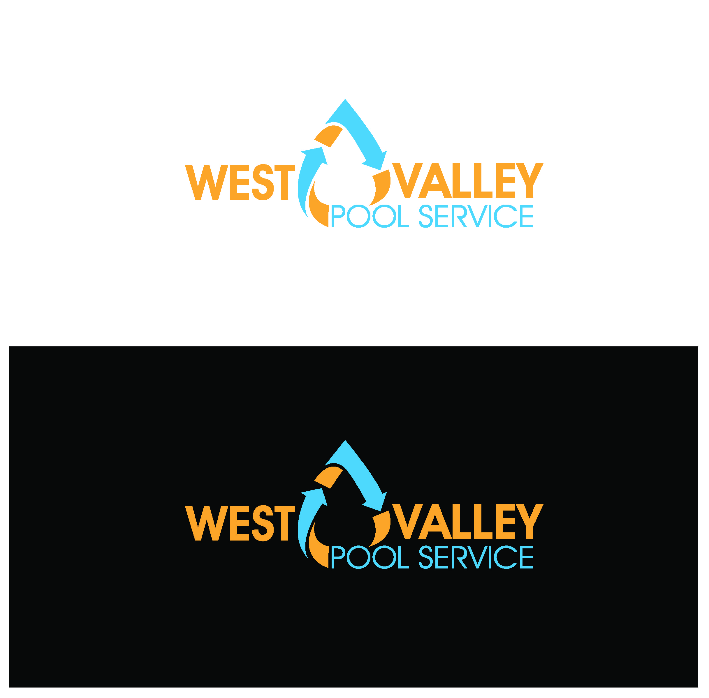 Logo Design by Sampath Gunathilaka - Entry No. 91 in the Logo Design Contest Clever Logo Design for West Valley Pool Service.