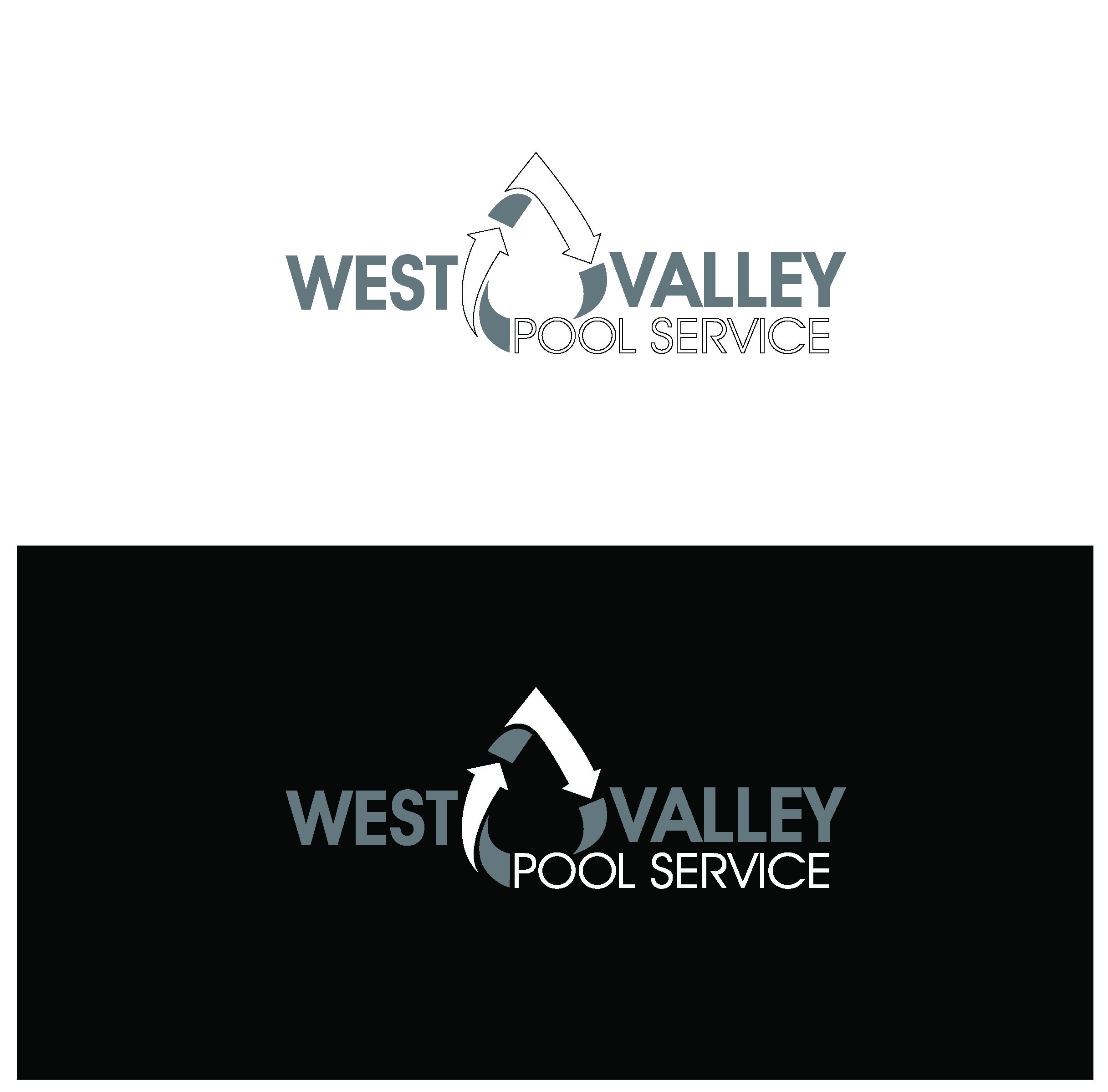 Logo Design by Sampath Gunathilaka - Entry No. 93 in the Logo Design Contest Clever Logo Design for West Valley Pool Service.