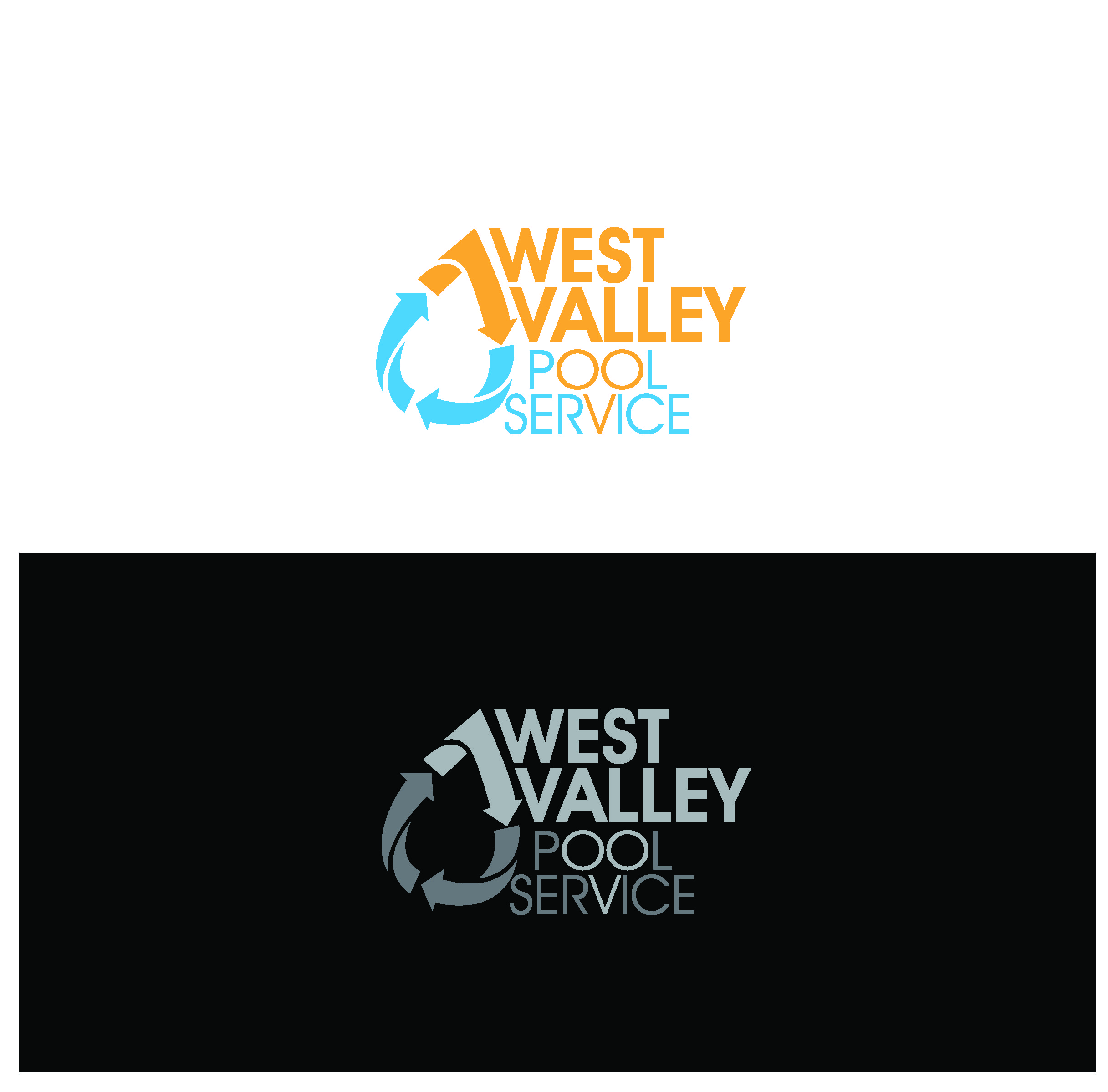 Logo Design by Sampath Gunathilaka - Entry No. 95 in the Logo Design Contest Clever Logo Design for West Valley Pool Service.