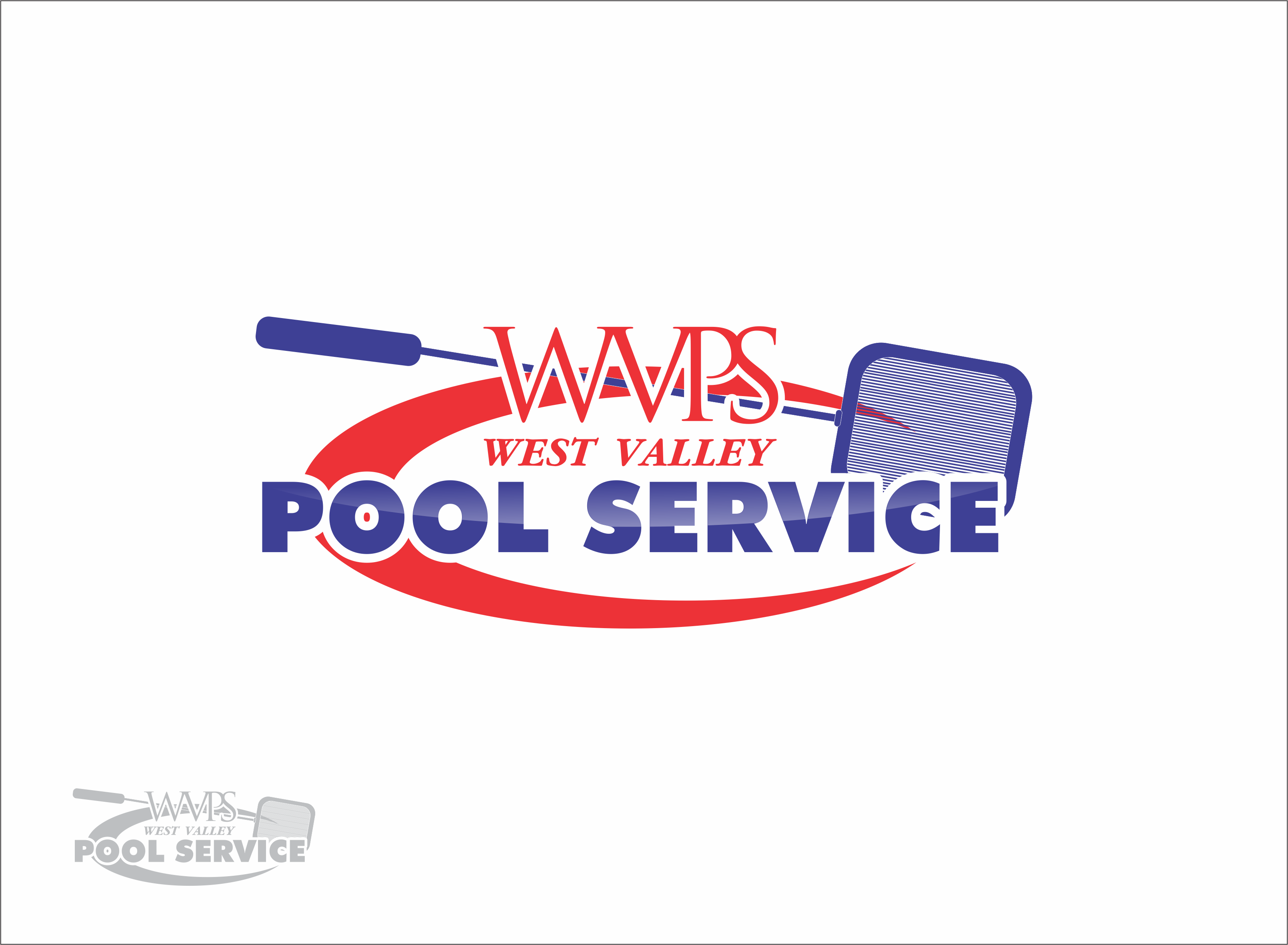 Logo Design by snow - Entry No. 98 in the Logo Design Contest Clever Logo Design for West Valley Pool Service.