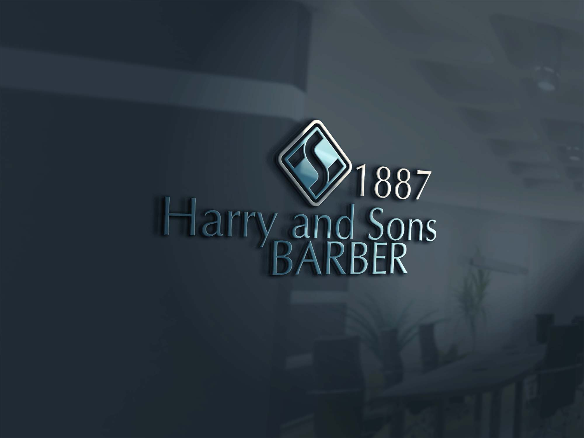 Logo Design by brands_in - Entry No. 141 in the Logo Design Contest Captivating Logo Design for Harry and Sons Barber.
