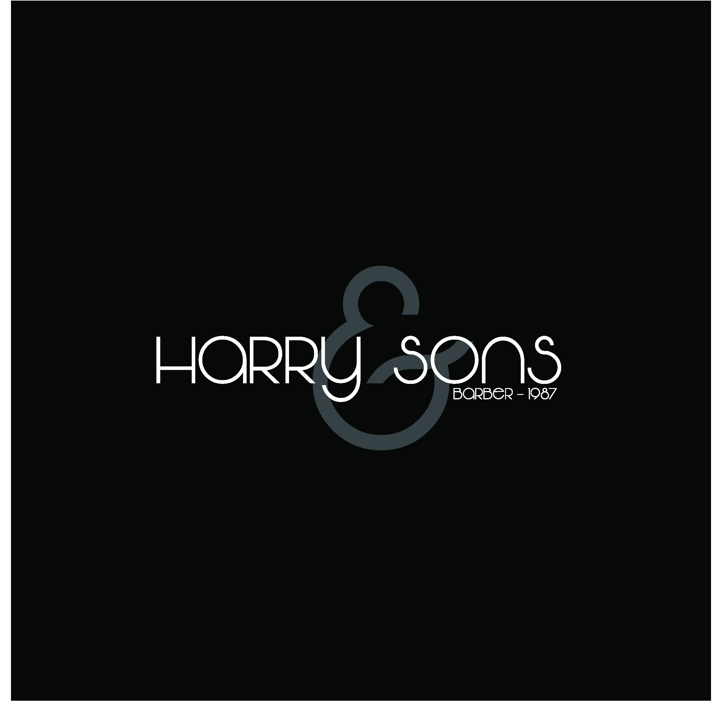 Logo Design by Sampath Gunathilaka - Entry No. 145 in the Logo Design Contest Captivating Logo Design for Harry and Sons Barber.