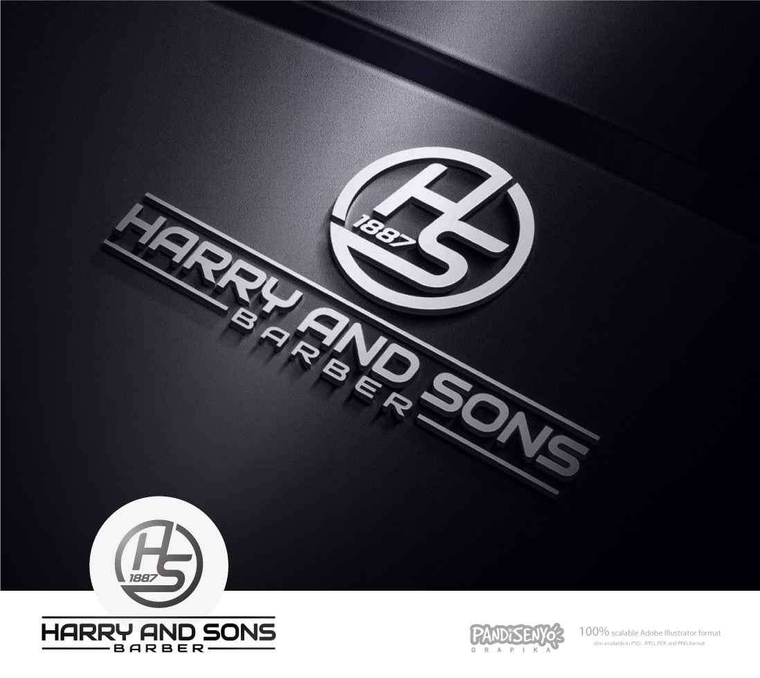 Logo Design by pandisenyo - Entry No. 147 in the Logo Design Contest Captivating Logo Design for Harry and Sons Barber.