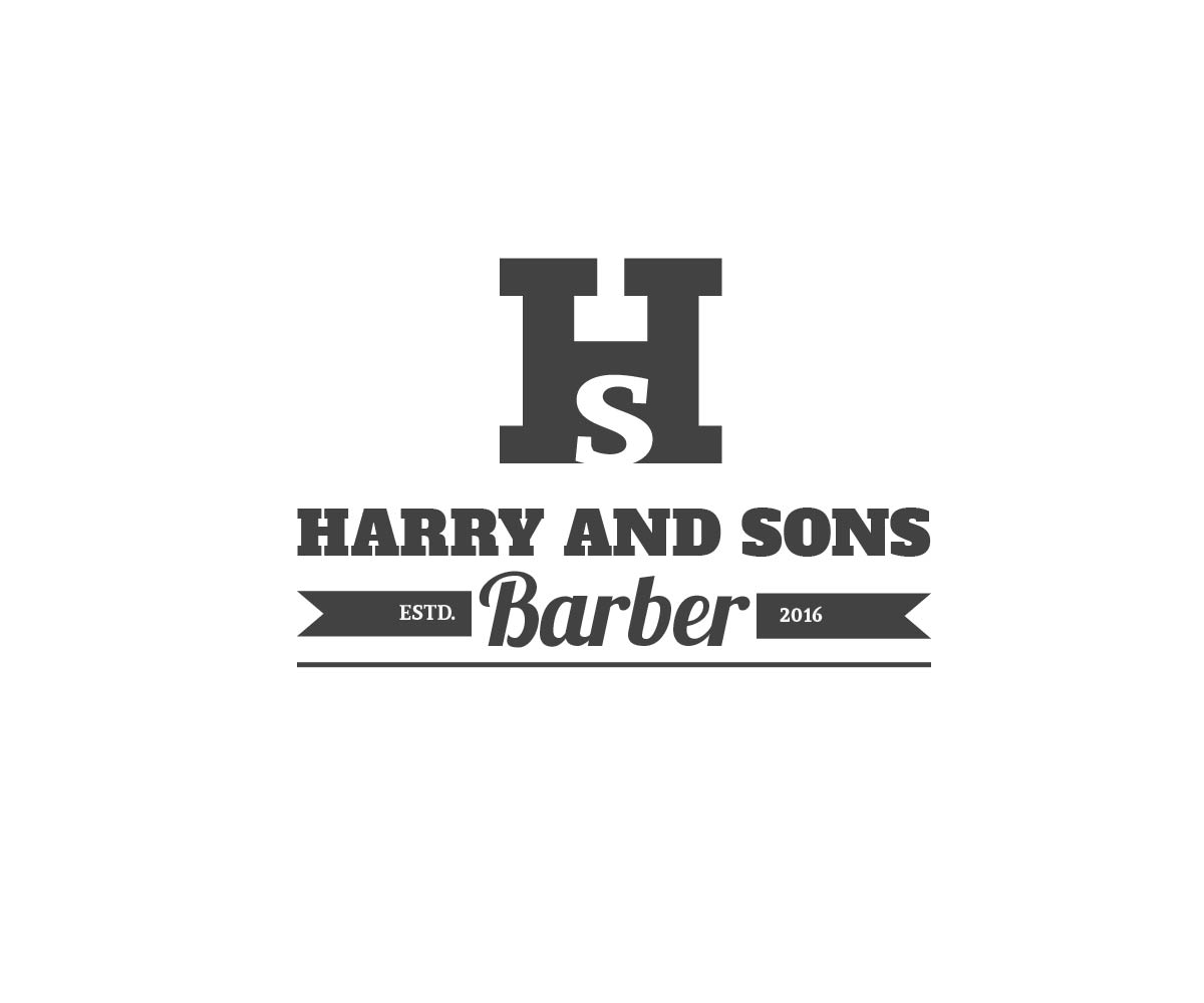 Logo Design by PixArt - Entry No. 149 in the Logo Design Contest Captivating Logo Design for Harry and Sons Barber.