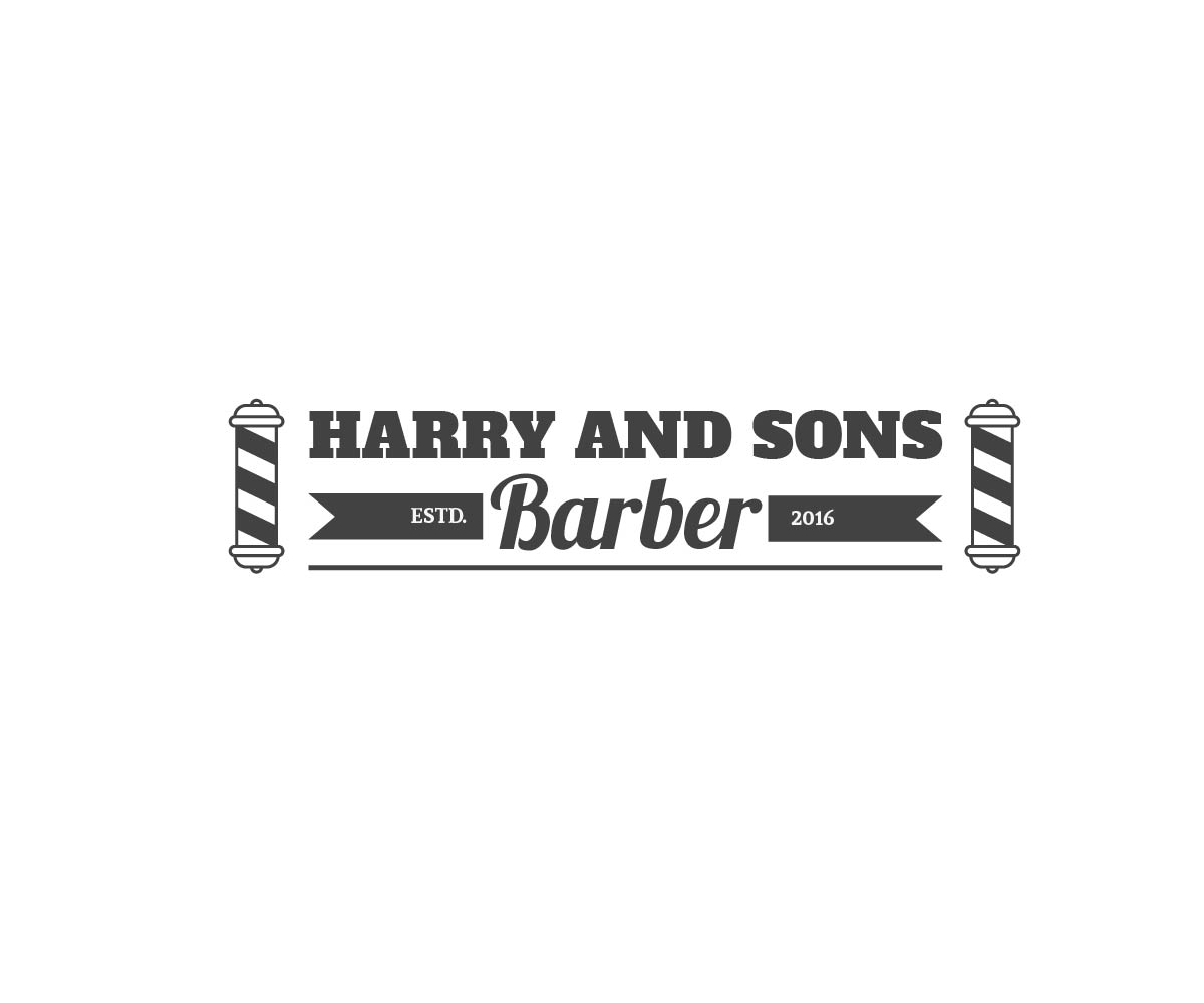 Logo Design by PixArt - Entry No. 150 in the Logo Design Contest Captivating Logo Design for Harry and Sons Barber.