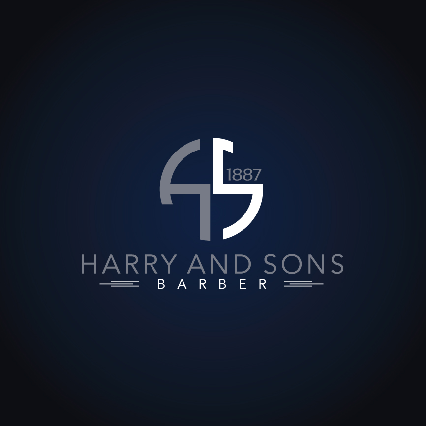 Logo Design by RasYa Muhammad Athaya - Entry No. 153 in the Logo Design Contest Captivating Logo Design for Harry and Sons Barber.