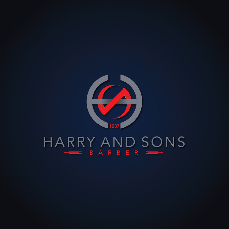 Logo Design by RasYa Muhammad Athaya - Entry No. 157 in the Logo Design Contest Captivating Logo Design for Harry and Sons Barber.