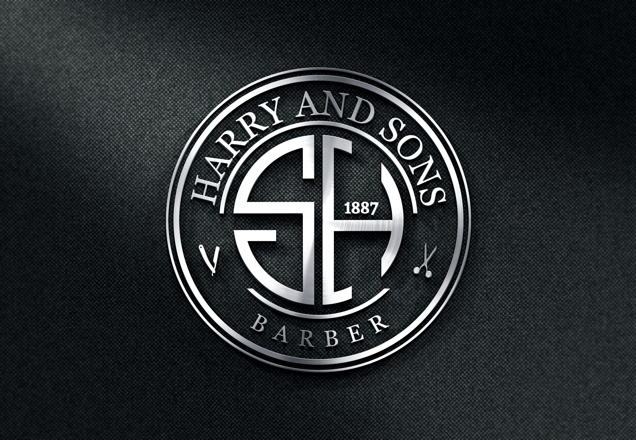 Logo Design by PixArt - Entry No. 159 in the Logo Design Contest Captivating Logo Design for Harry and Sons Barber.