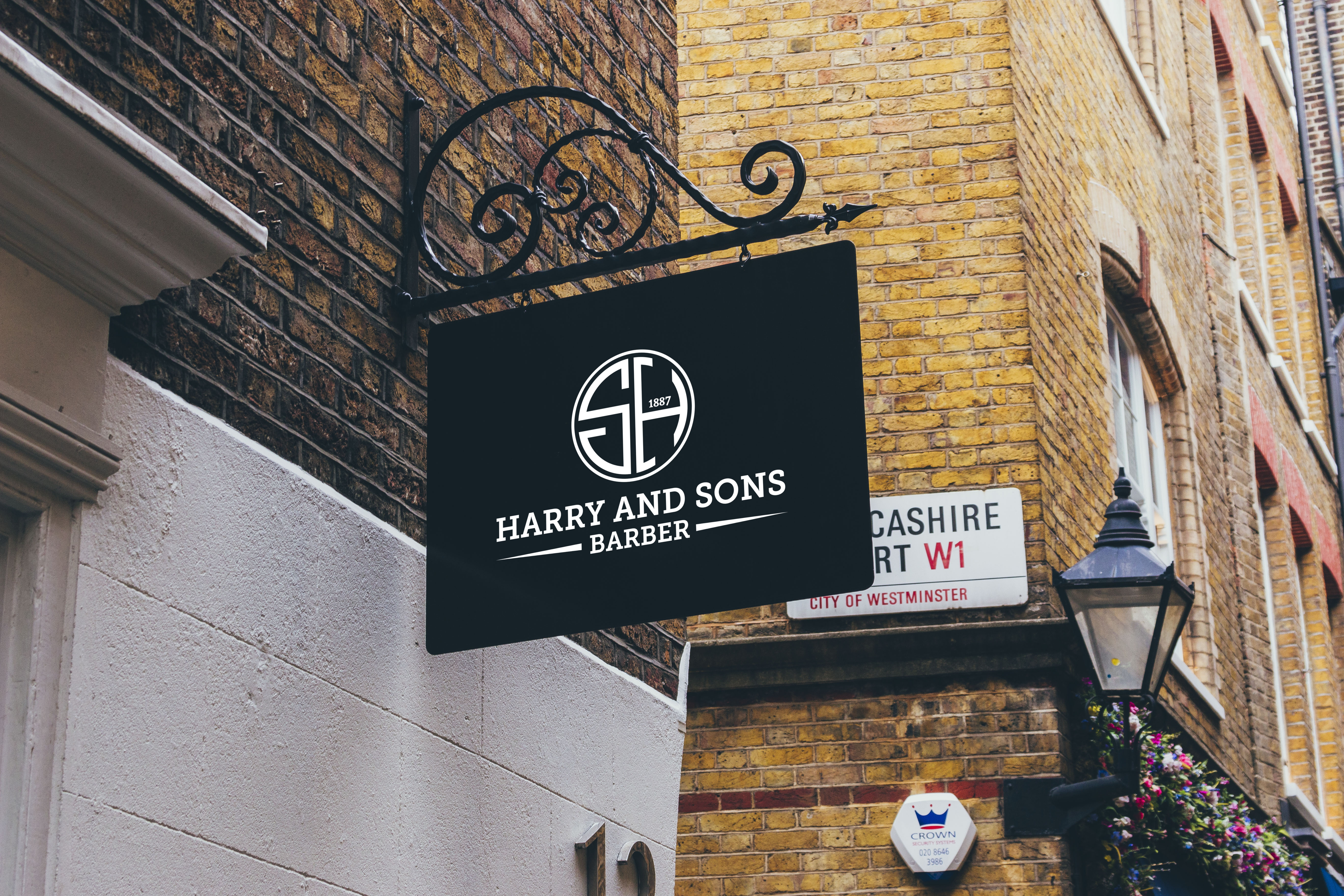 Logo Design by PixArt - Entry No. 160 in the Logo Design Contest Captivating Logo Design for Harry and Sons Barber.