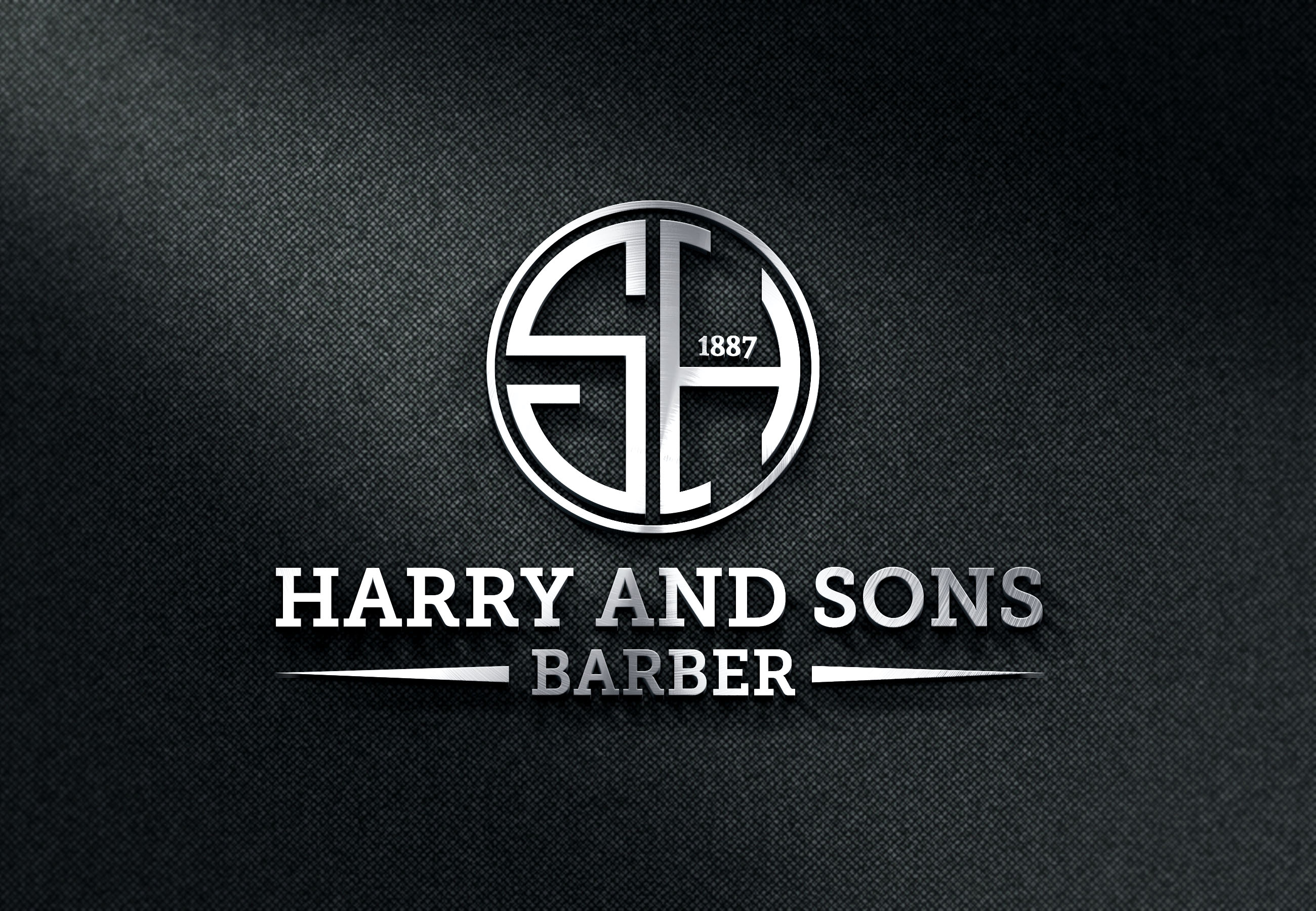 Logo Design by PixArt - Entry No. 161 in the Logo Design Contest Captivating Logo Design for Harry and Sons Barber.